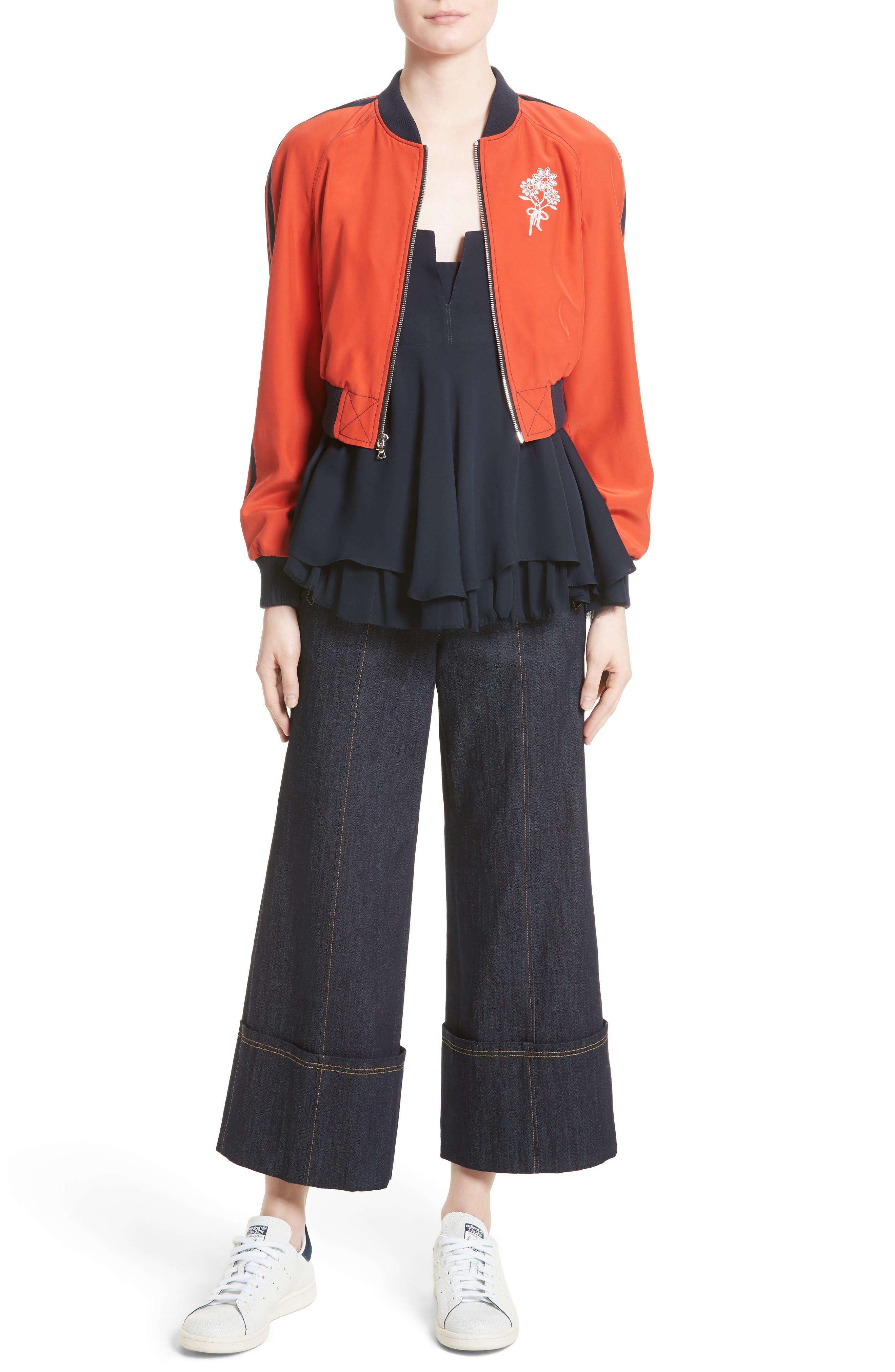 Marla Cuff Jeans,                             Alternate thumbnail 6, color,                             422