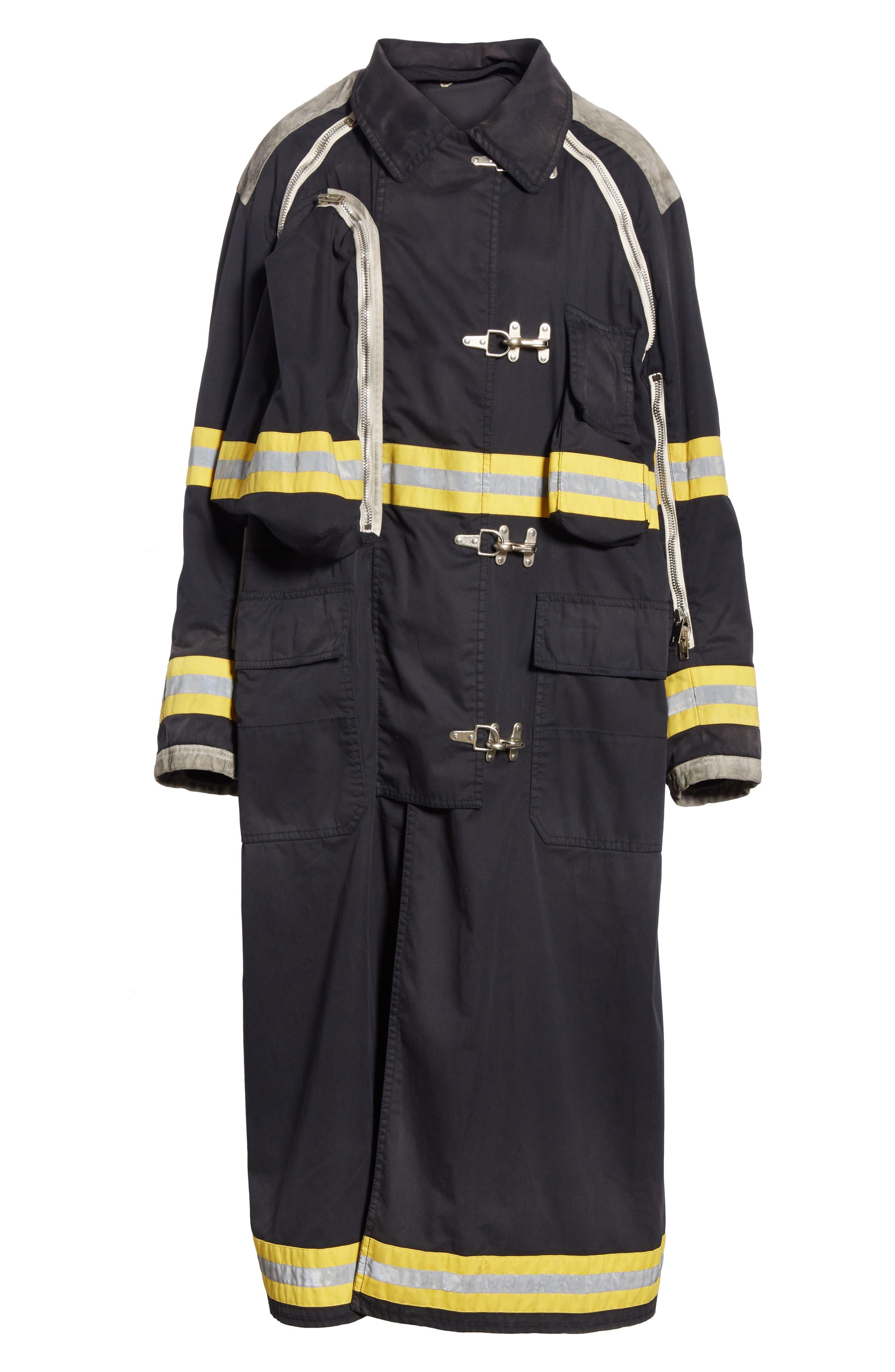 Fireman Coat,                             Alternate thumbnail 6, color,                             BLACK