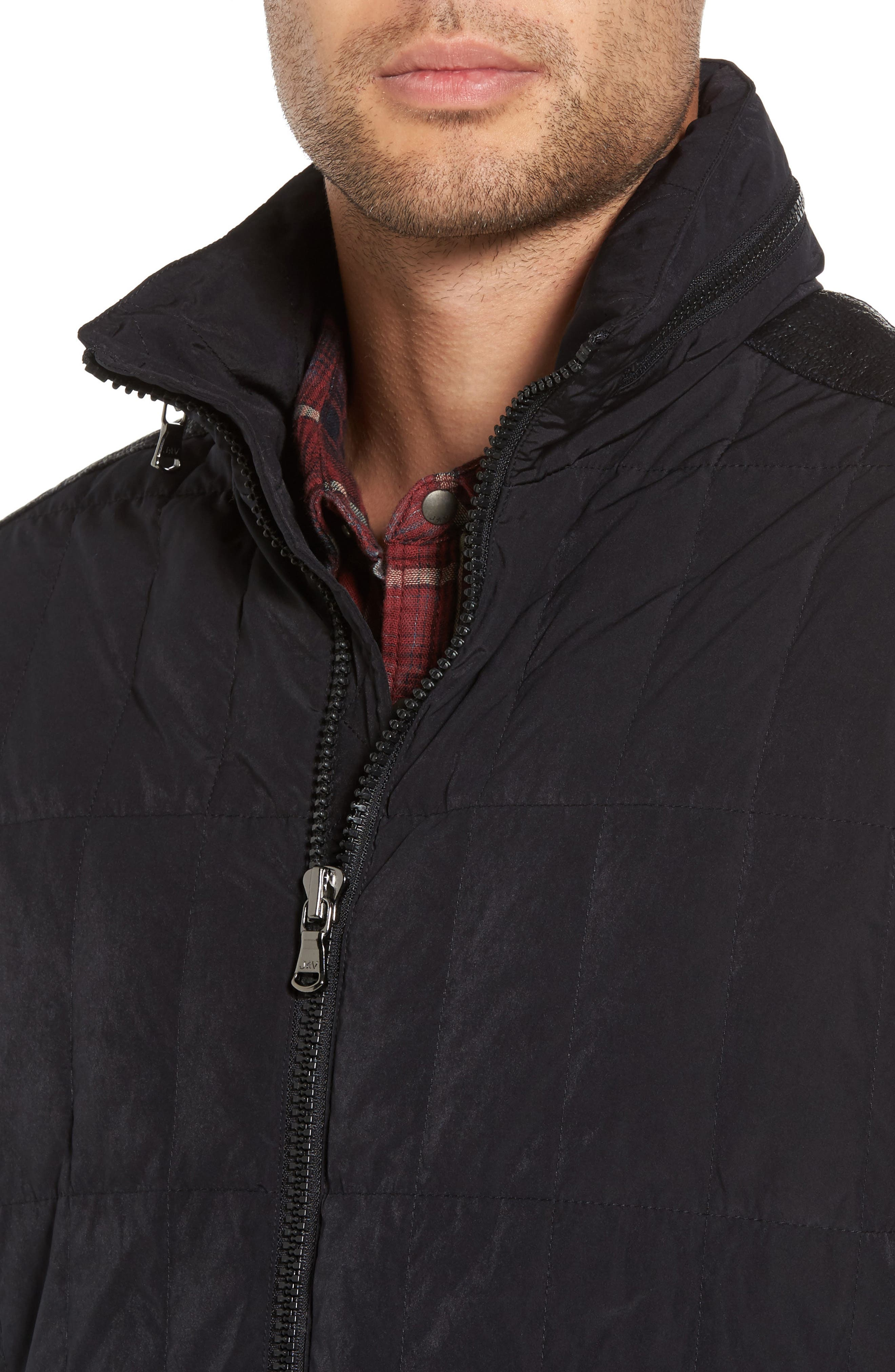 Quilted Down Jacket,                             Alternate thumbnail 7, color,