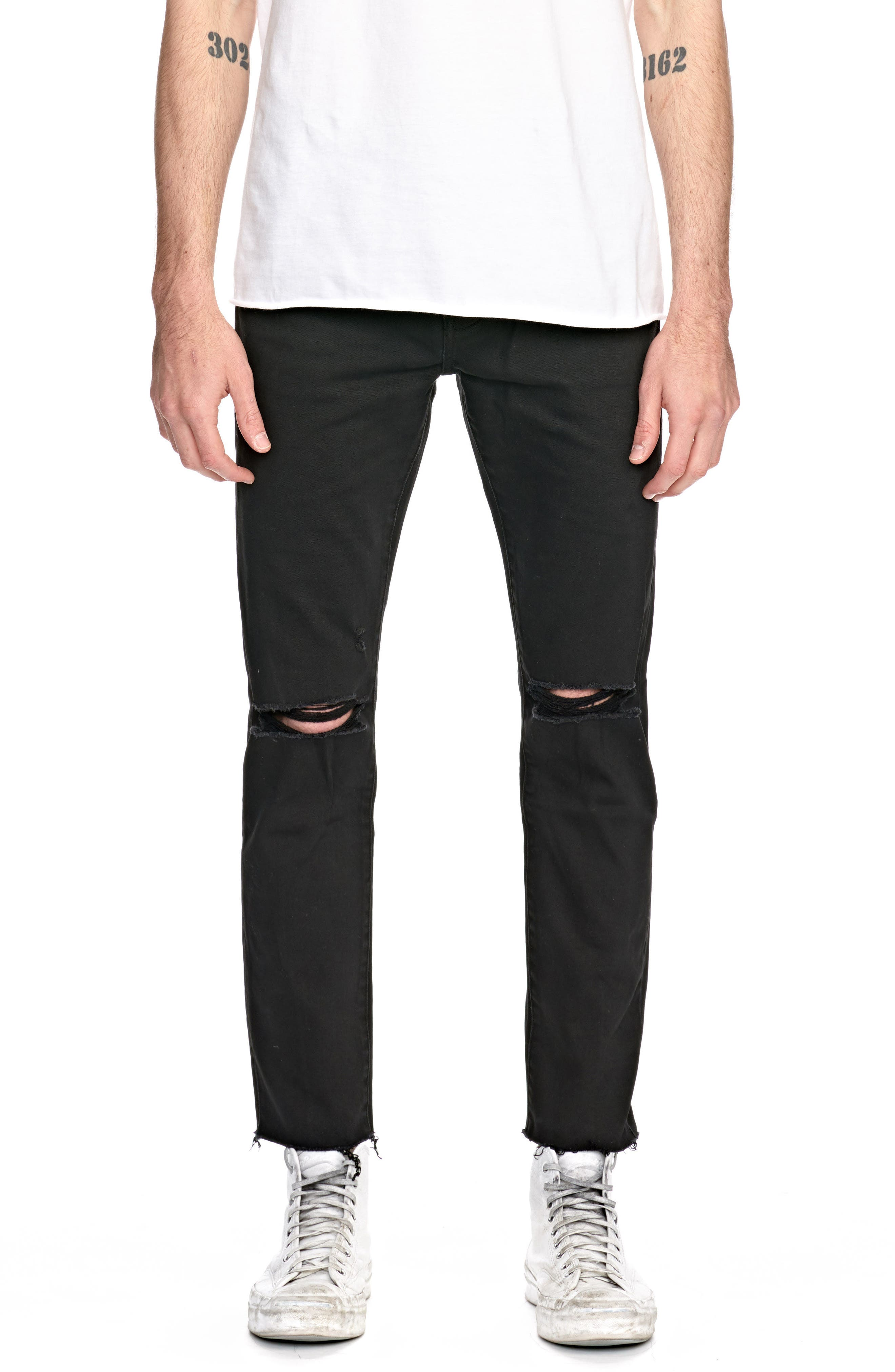 Iggy Skinny Fit Jeans,                             Main thumbnail 1, color,                             001