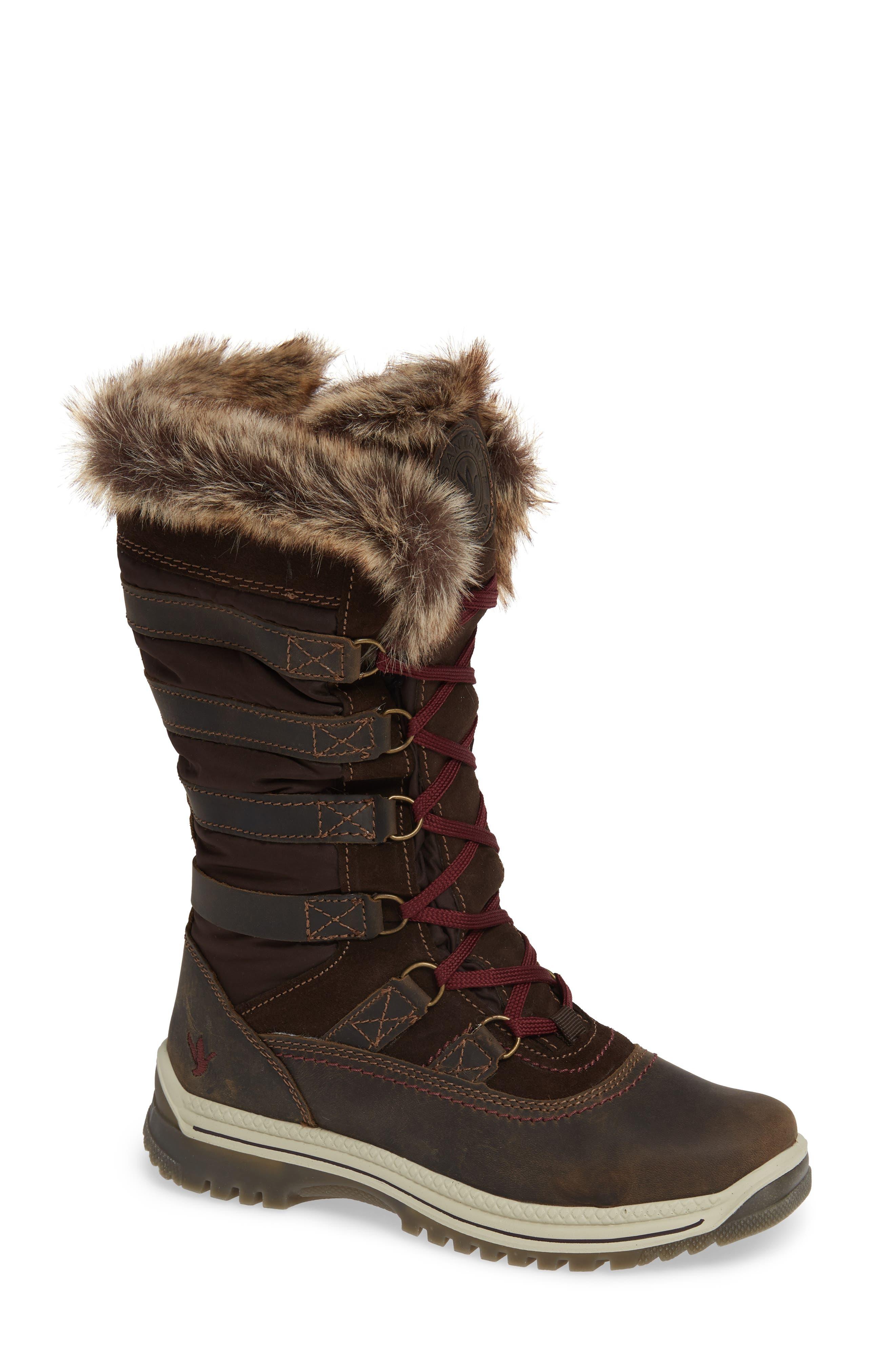 Santana Canada Milani Waterproof Faux Fur Boot, Brown