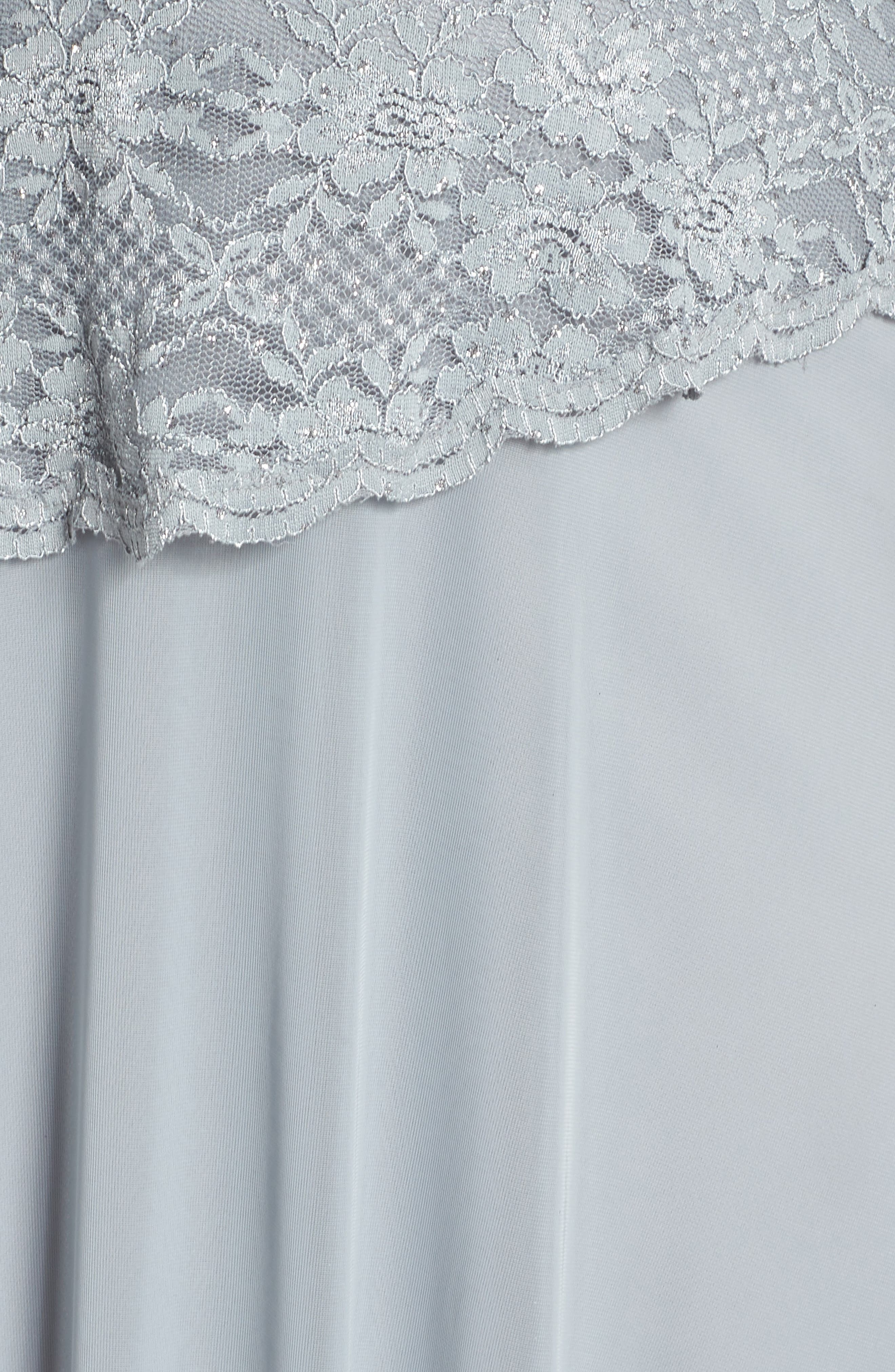 Asymmetrical Lace Bodice Gown,                             Alternate thumbnail 5, color,                             SAGE