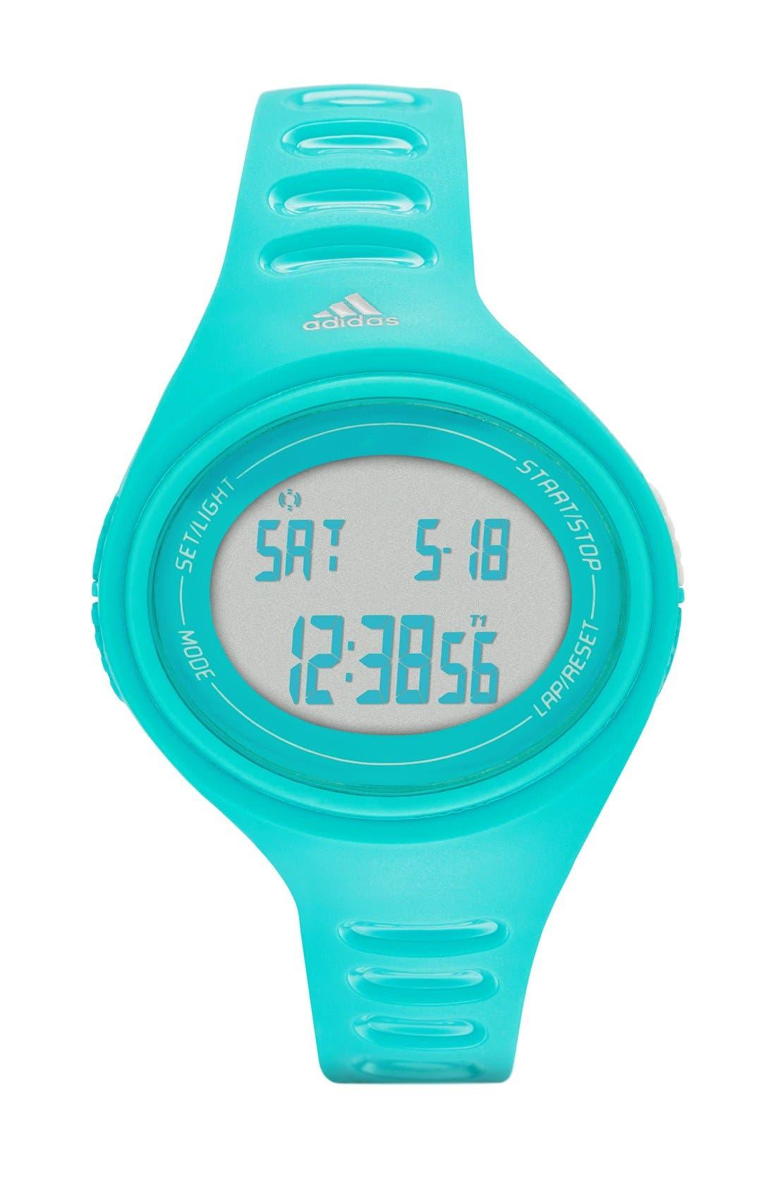 'Adizero' Digital Watch, 43mm x 38mm,                             Main thumbnail 2, color,