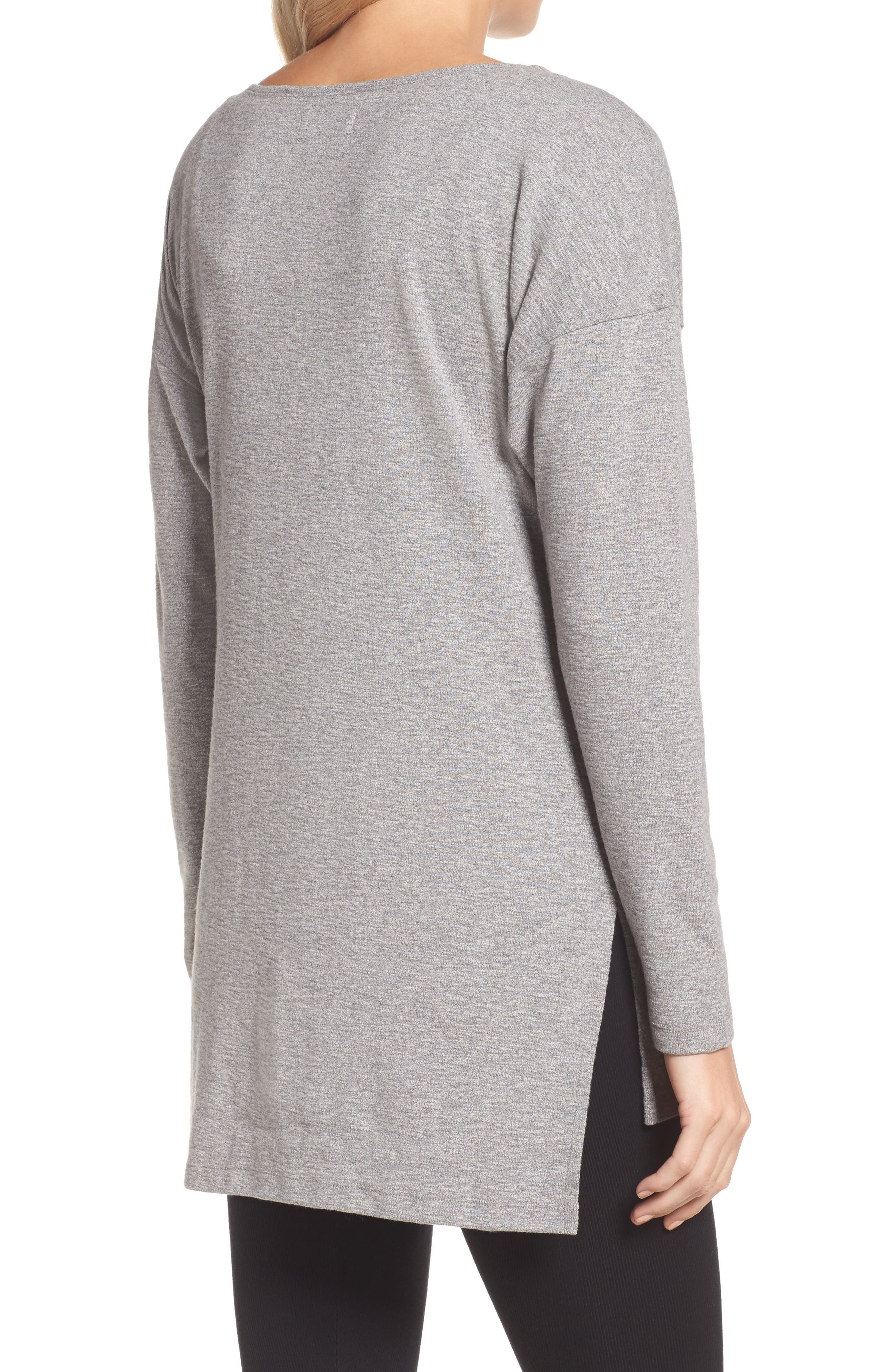 Luella High/Low Cotton Pullover,                             Alternate thumbnail 2, color,                             041