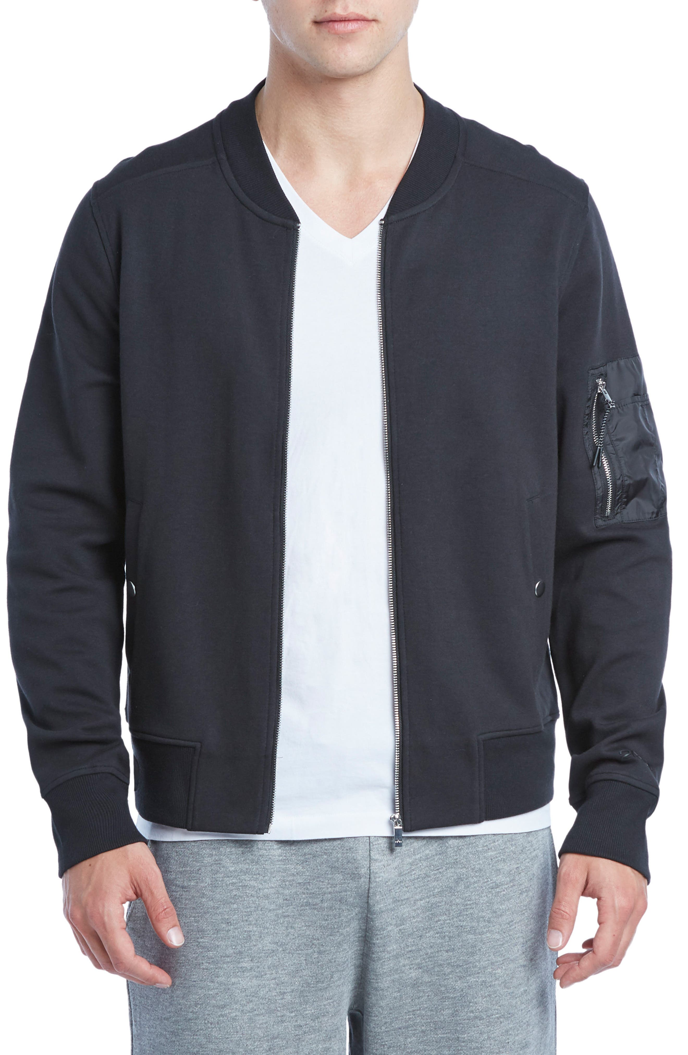 Military Sport Bomber Jacket,                         Main,                         color, 001