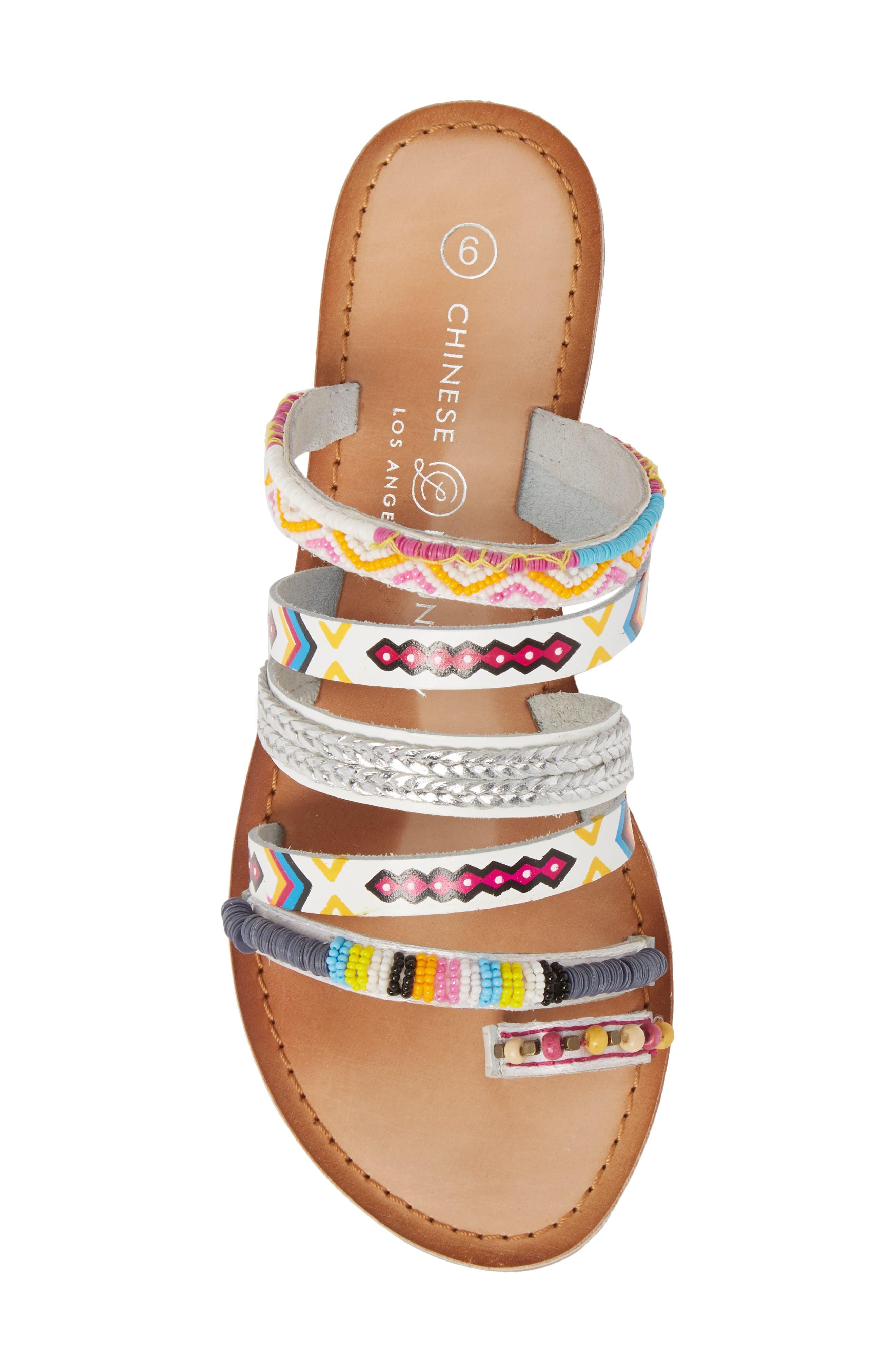 Pandora Embellished Slide Sandal,                             Alternate thumbnail 5, color,                             100