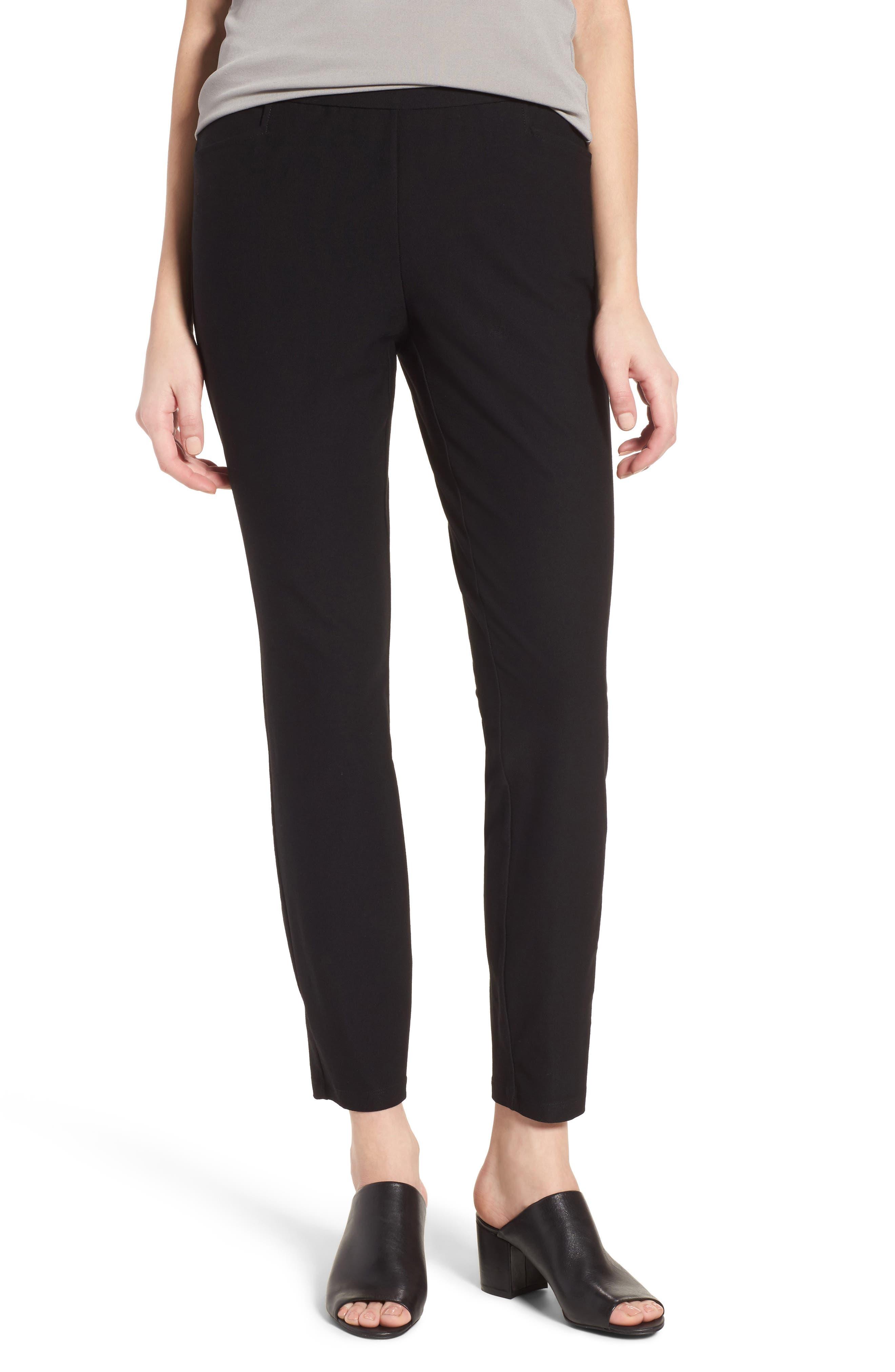 Slim Knit Pants,                             Main thumbnail 1, color,                             001