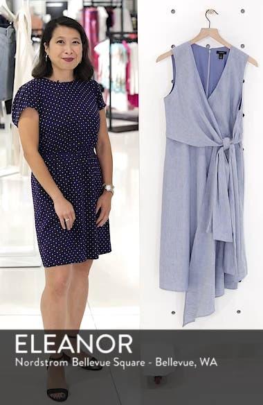 Tie Front Chambray Linen Blend Dress, sales video thumbnail