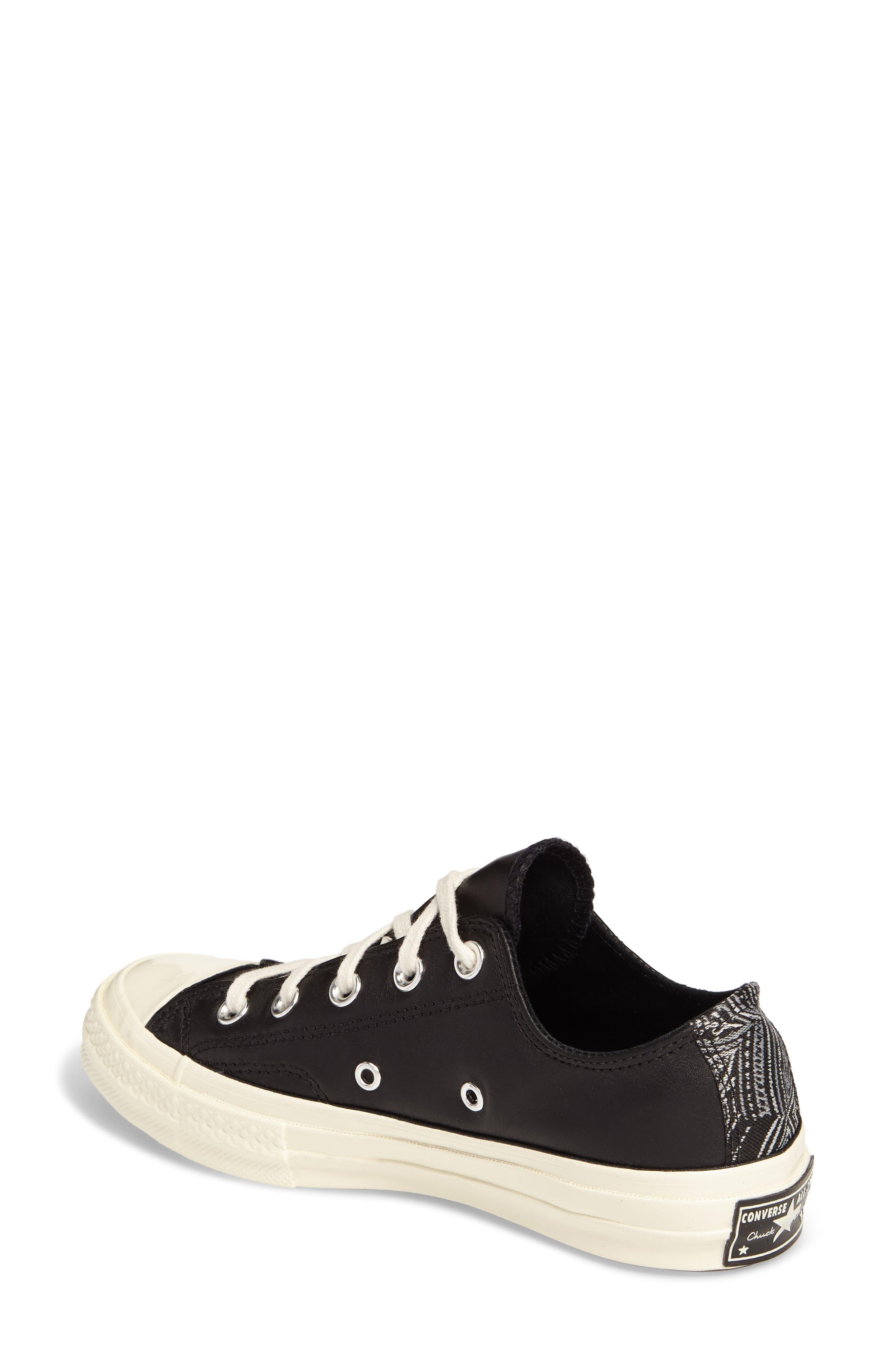 Chuck Taylor<sup>®</sup> All Star<sup>®</sup> Ox Genuine Calf Hair Sneaker,                             Alternate thumbnail 2, color,                             001