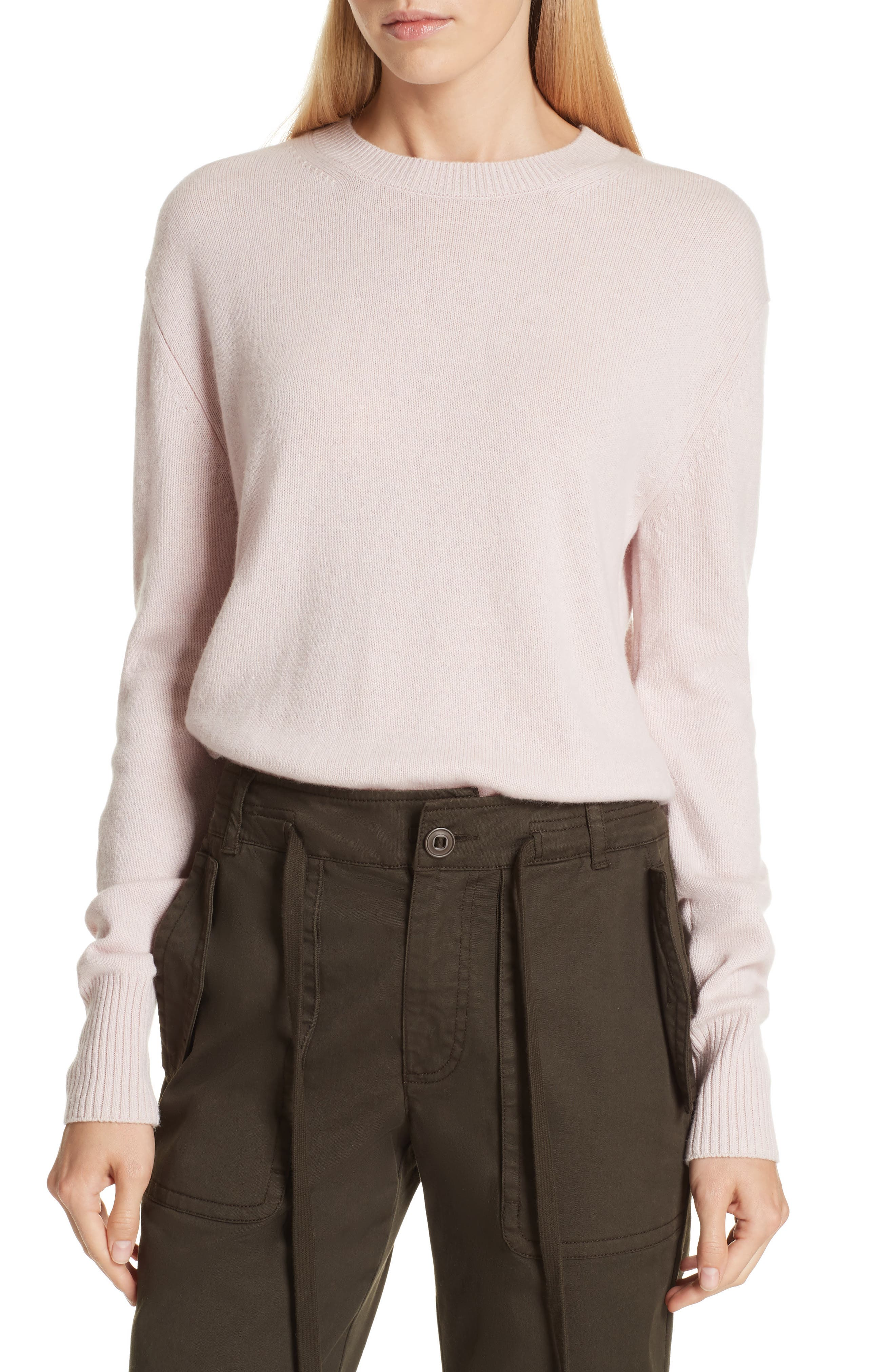 Asymmetrical Cashmere Sweater,                         Main,                         color, CHERRY BLOSSOM