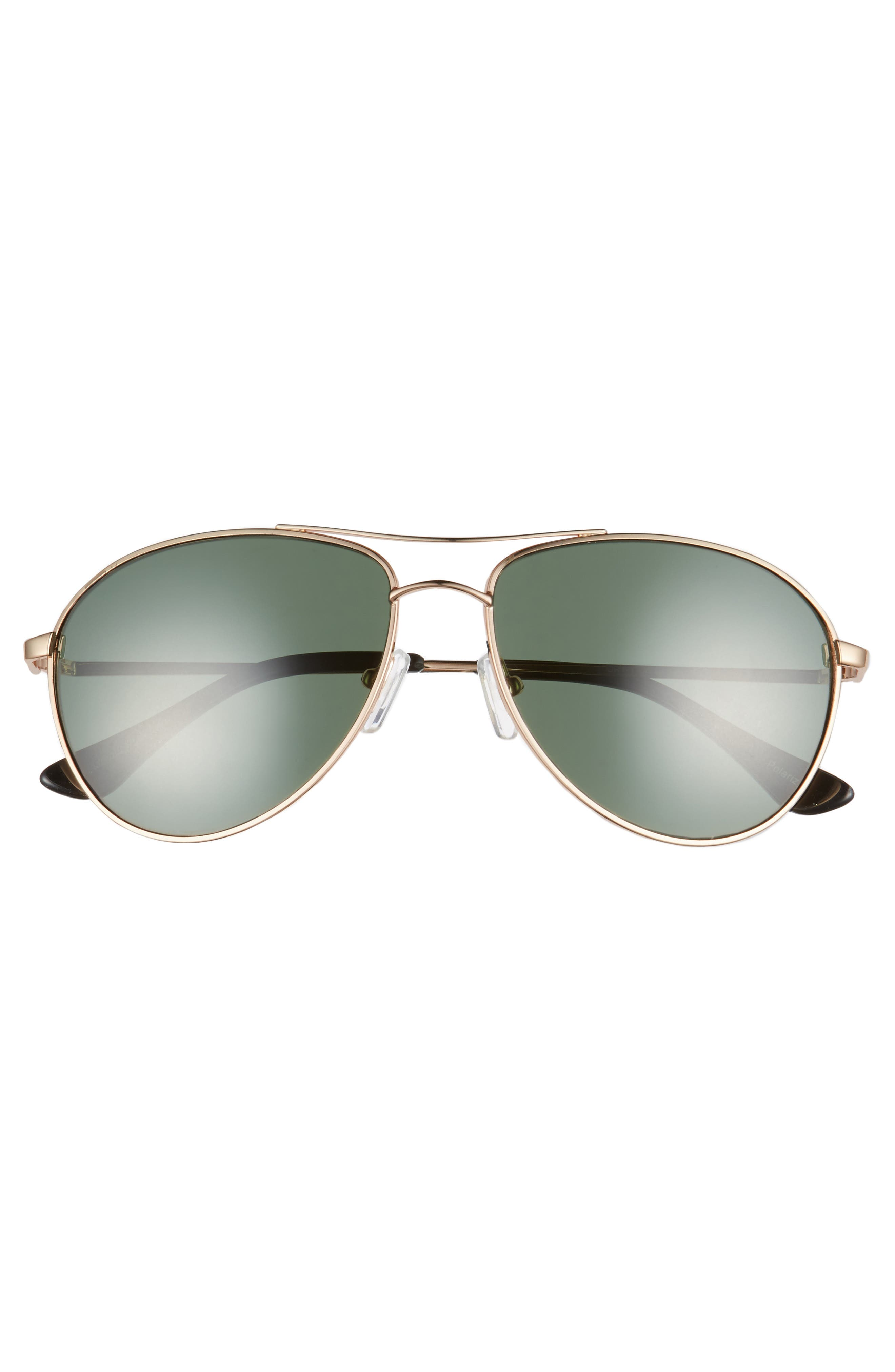 Orville 58mm Polarized Aviator Sunglasses,                             Alternate thumbnail 6, color,