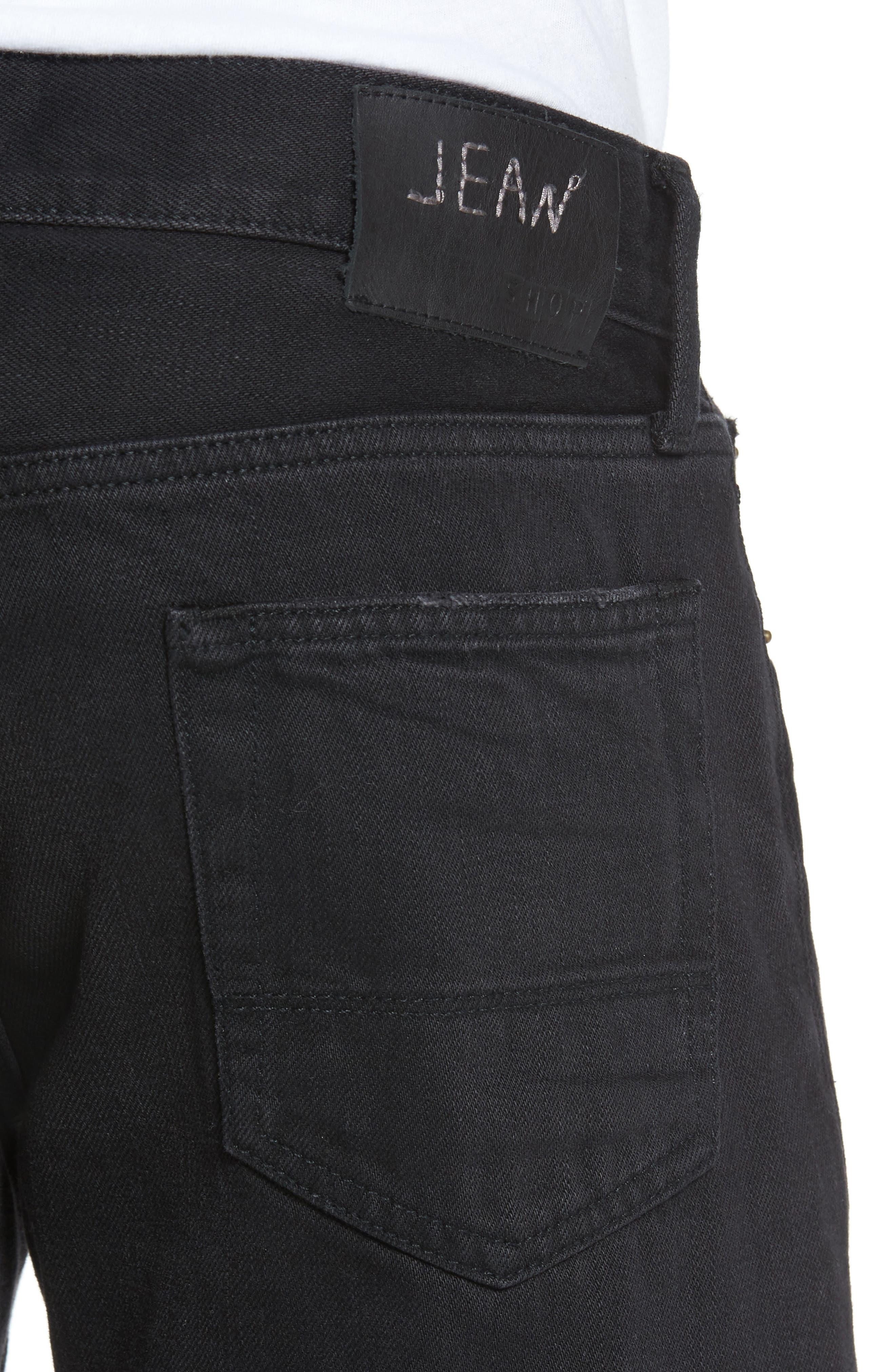 Straight Leg Selvedge Jeans,                             Alternate thumbnail 4, color,
