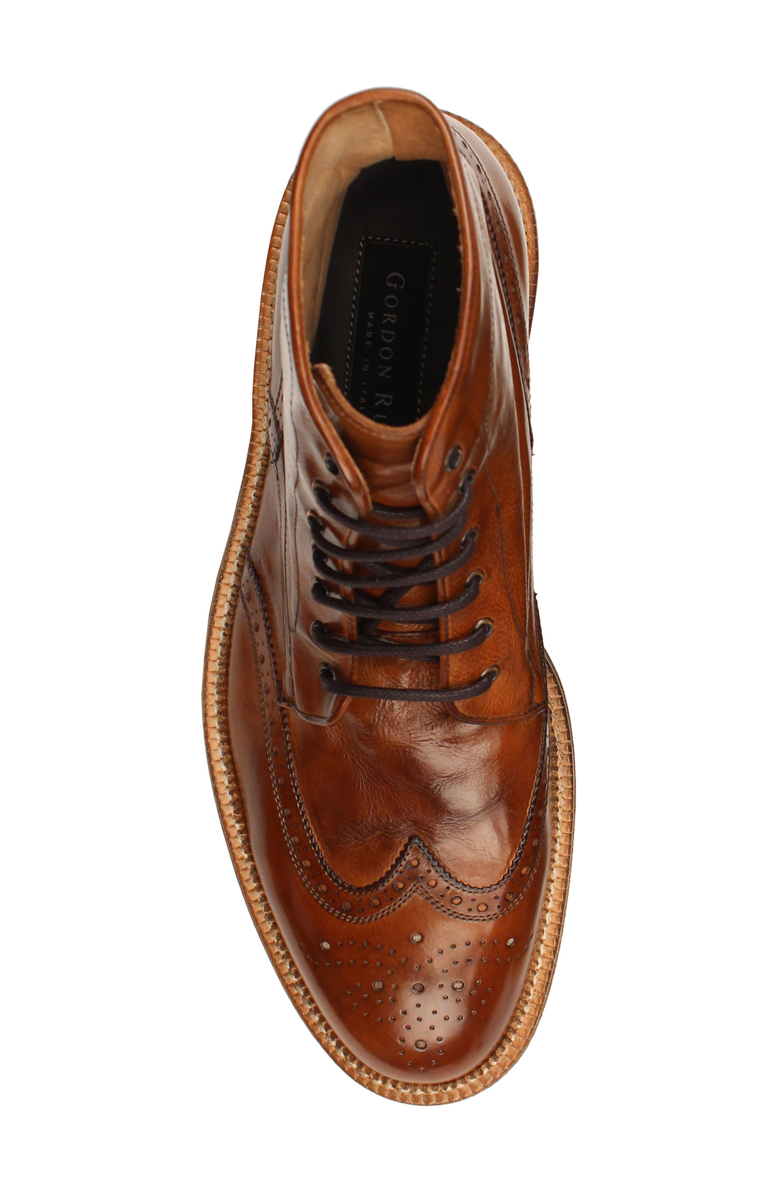 Max Wingtip Boot,                             Alternate thumbnail 5, color,                             WALNUT LEATHER