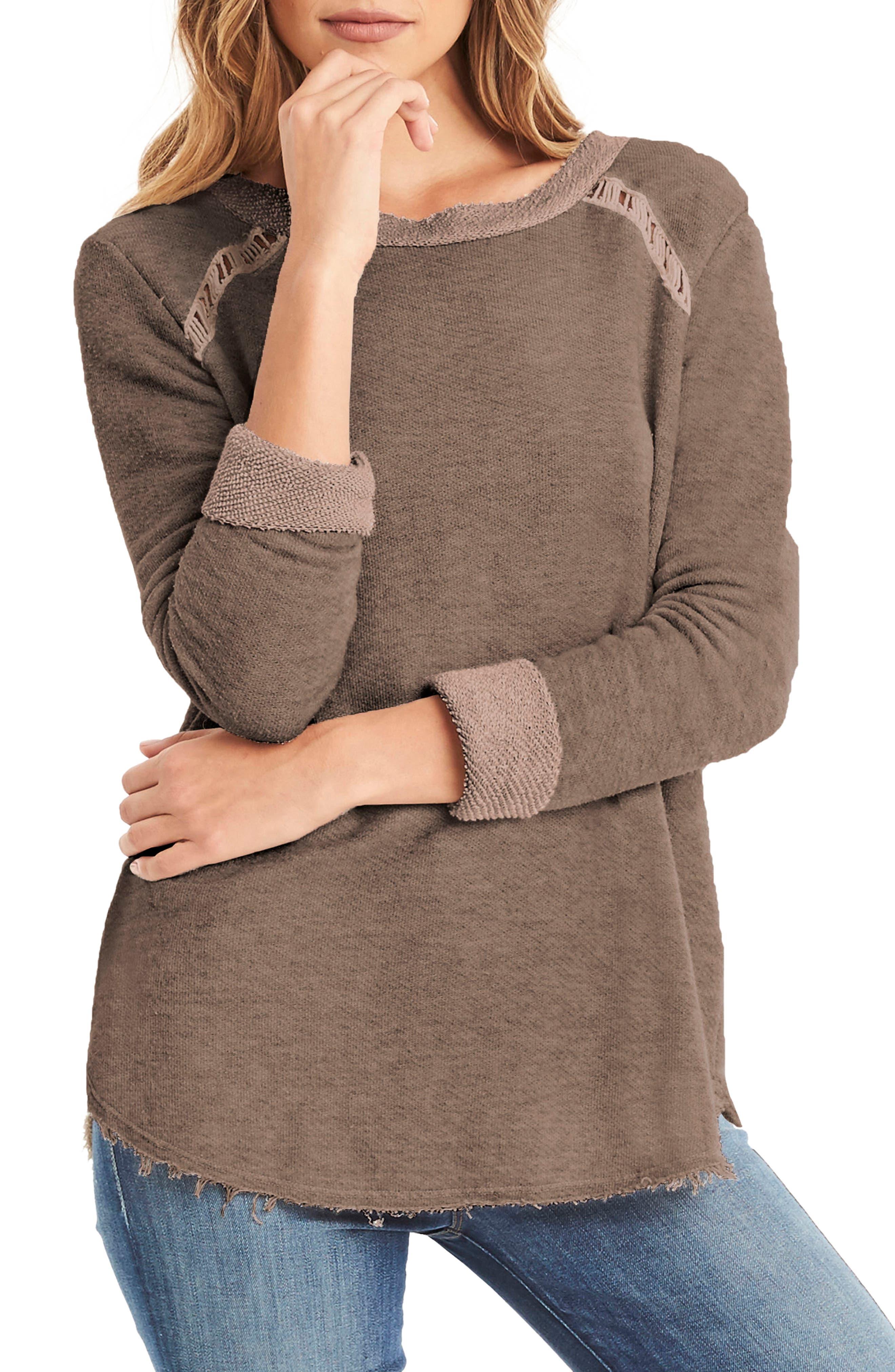 Distressed Sweatshirt,                         Main,                         color, 250