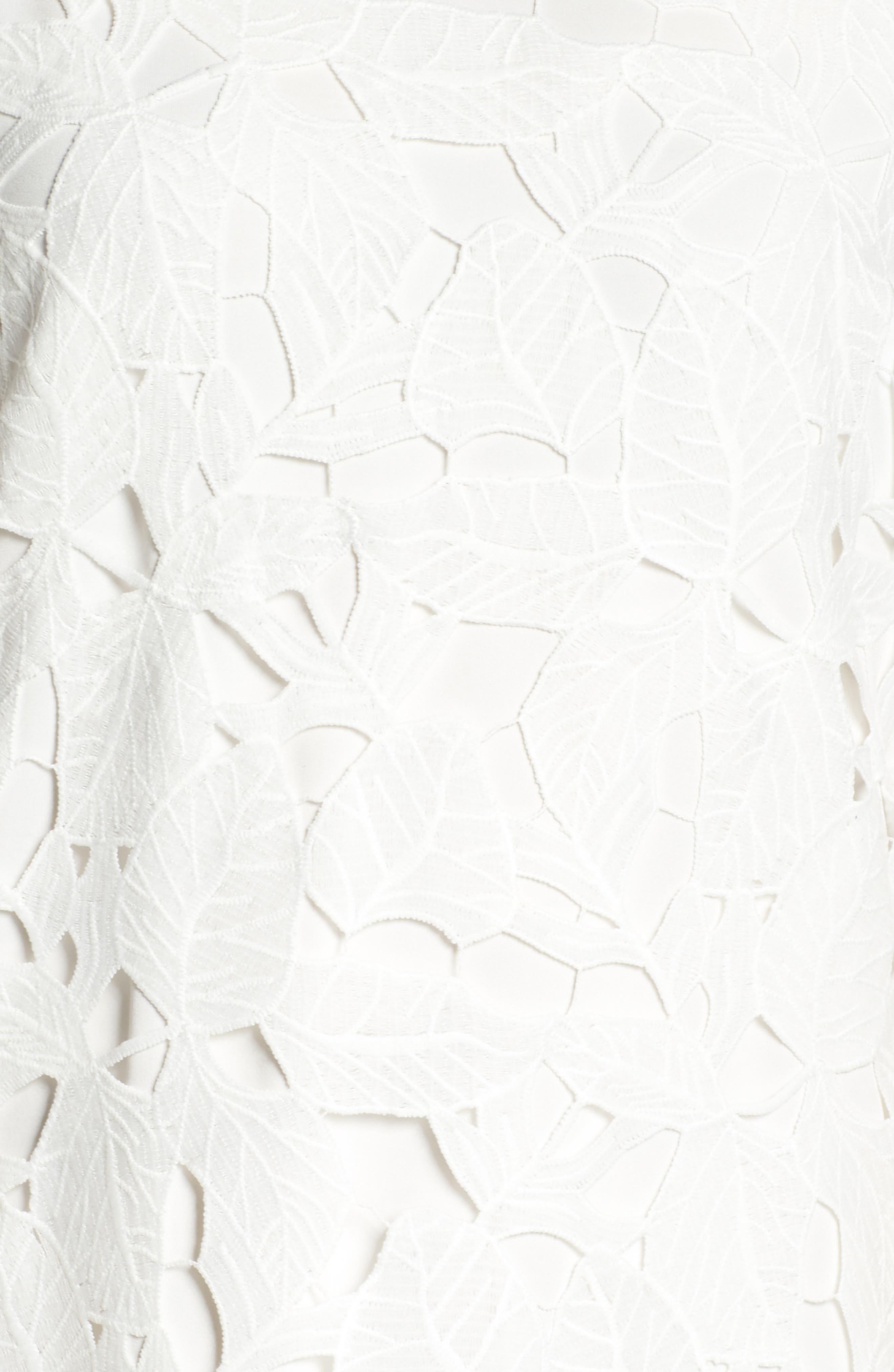 Skye Lace Shift Dress,                             Alternate thumbnail 6, color,                             100