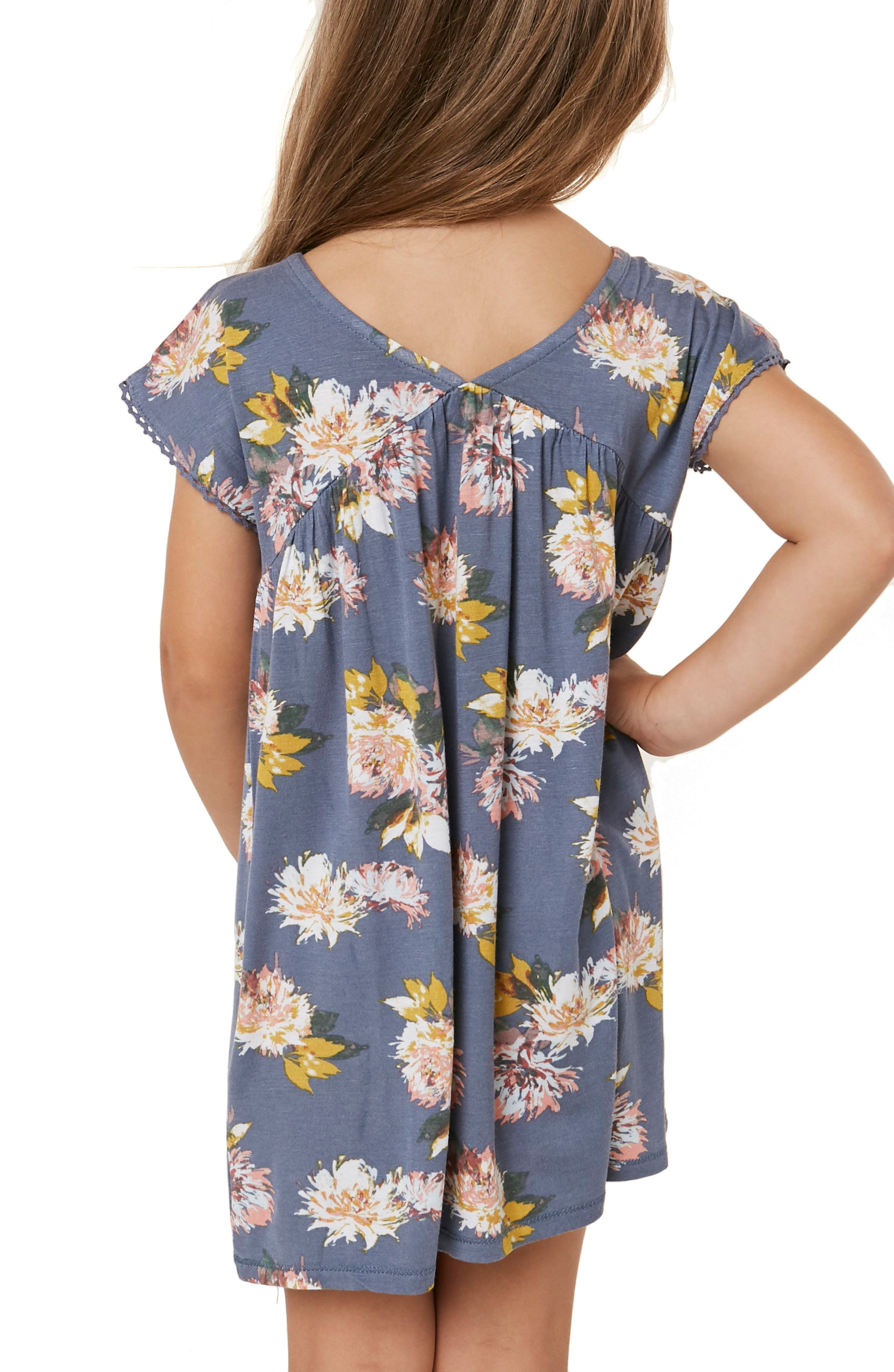 Lena Floral Dress,                             Alternate thumbnail 5, color,                             SLATE