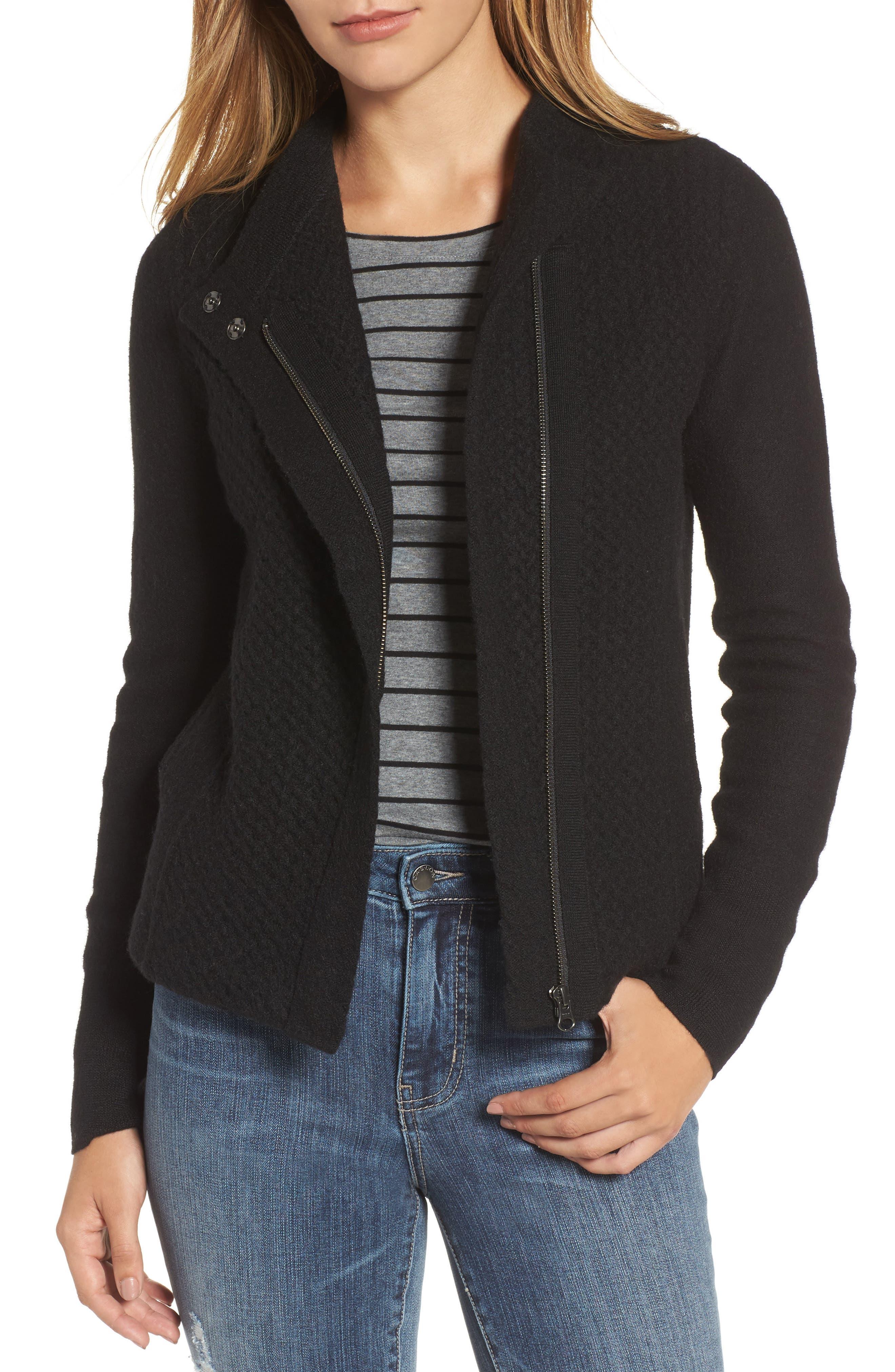 Knit Sweater Coat,                             Main thumbnail 1, color,                             001
