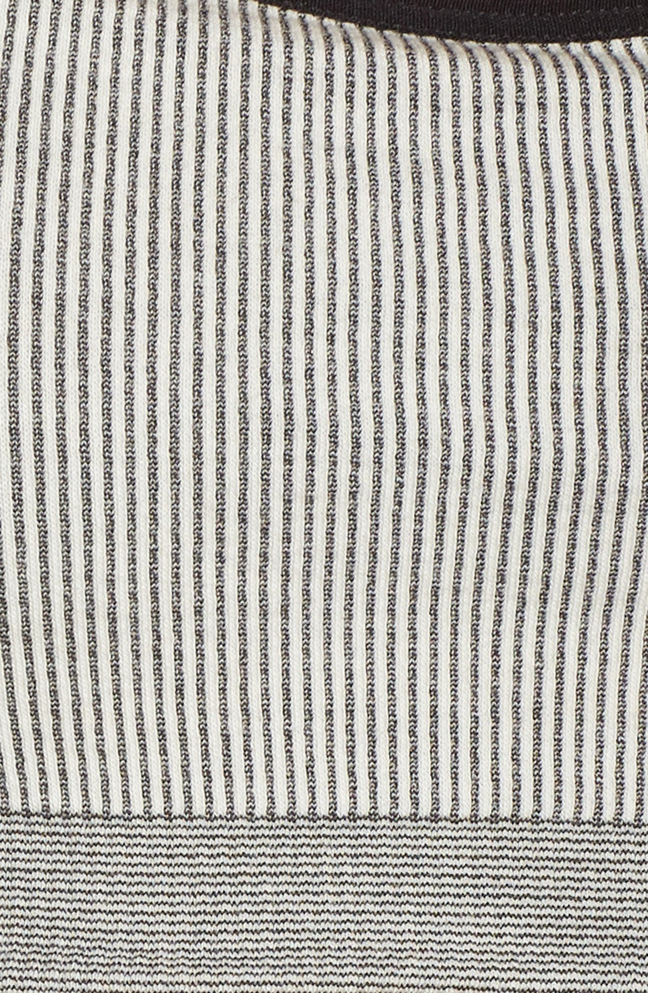 Loren Sports Bra,                             Alternate thumbnail 6, color,                             OFF WHITE/ BLACK
