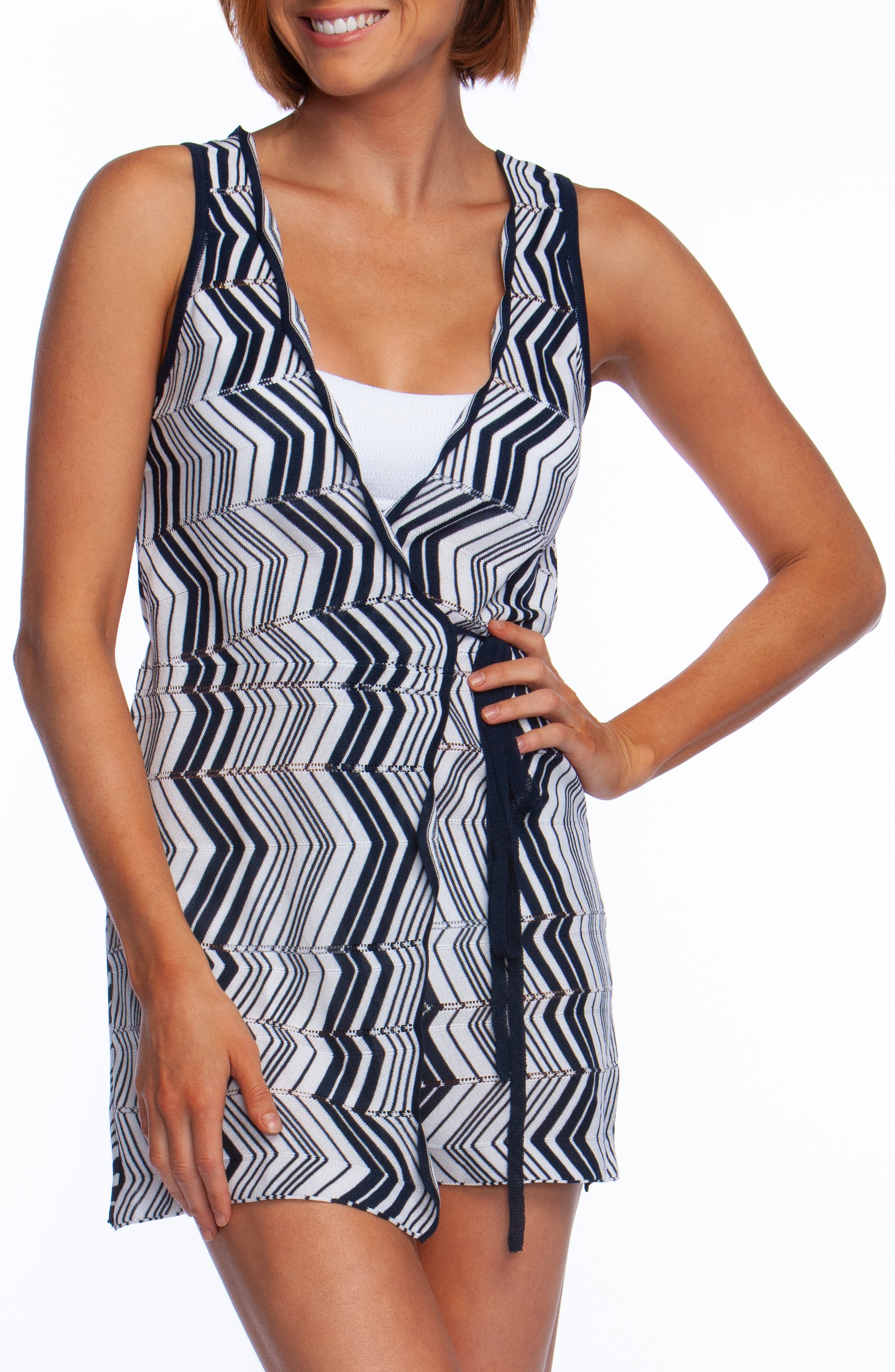 Chevron Wrap Tunic Cover Up by Trina Turk