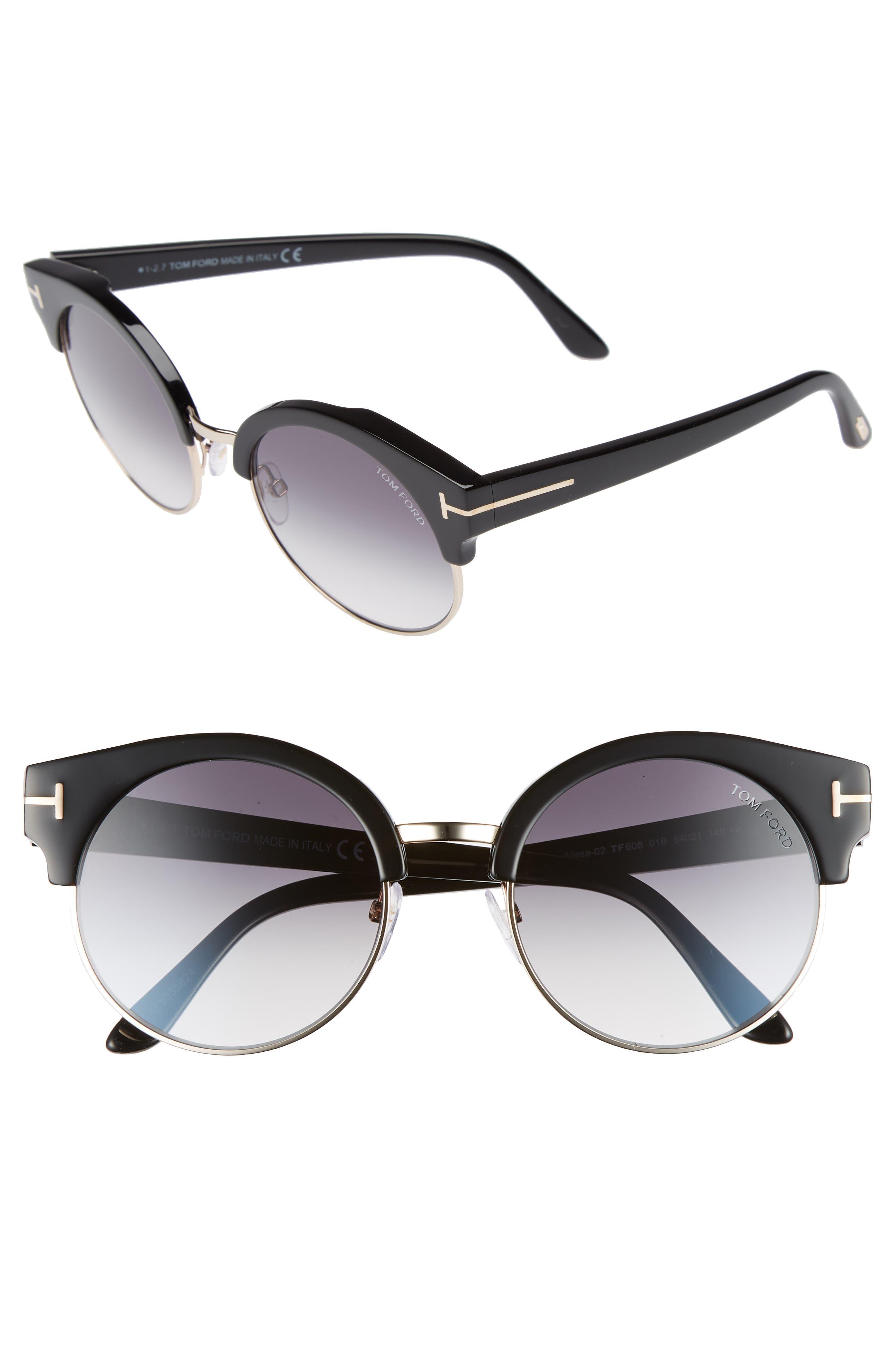 Alissa 54mm Sunglasses,                             Main thumbnail 1, color,                             012