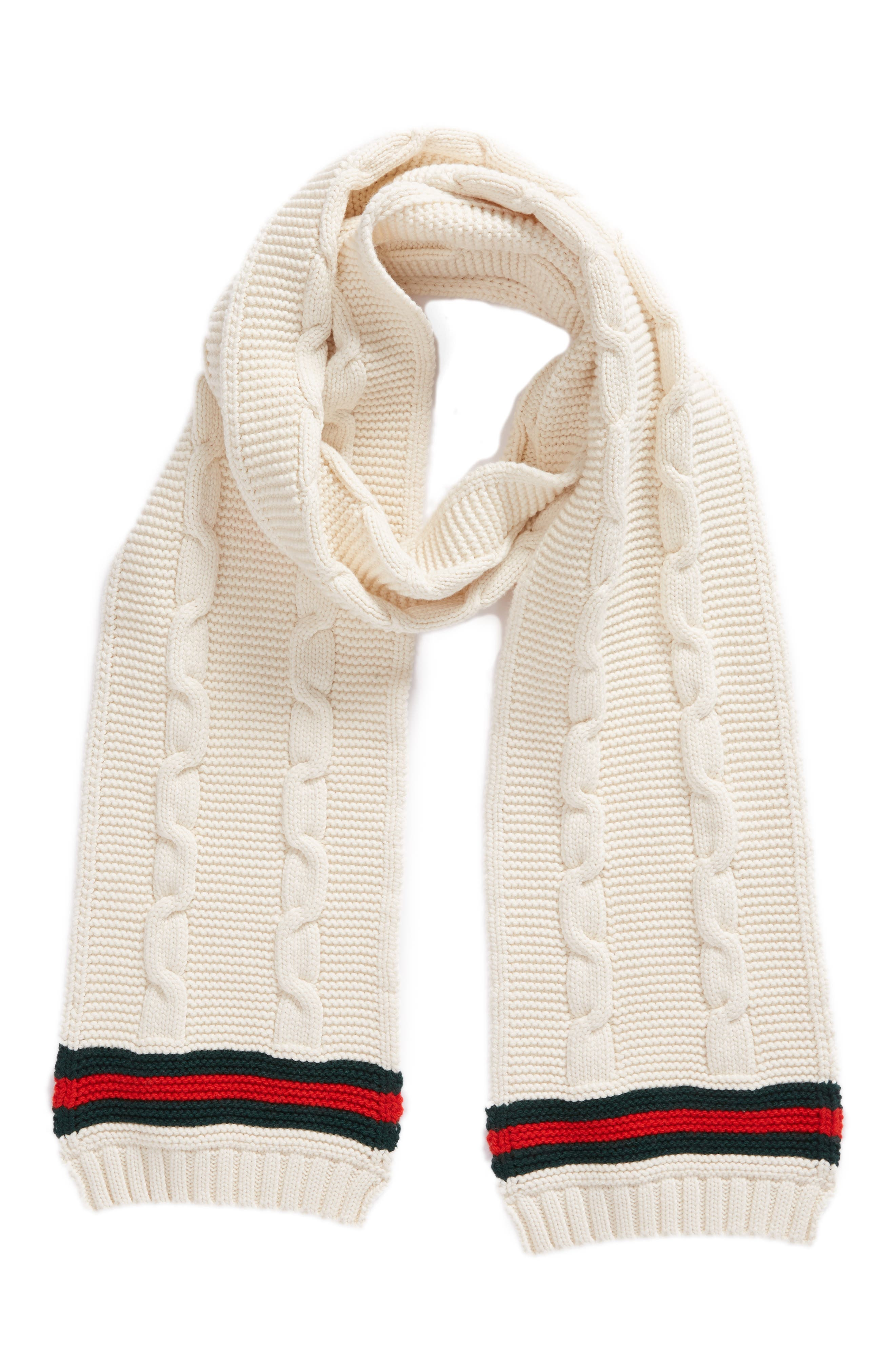 Omelis Cable Knit Scarf,                             Alternate thumbnail 3, color,                             100