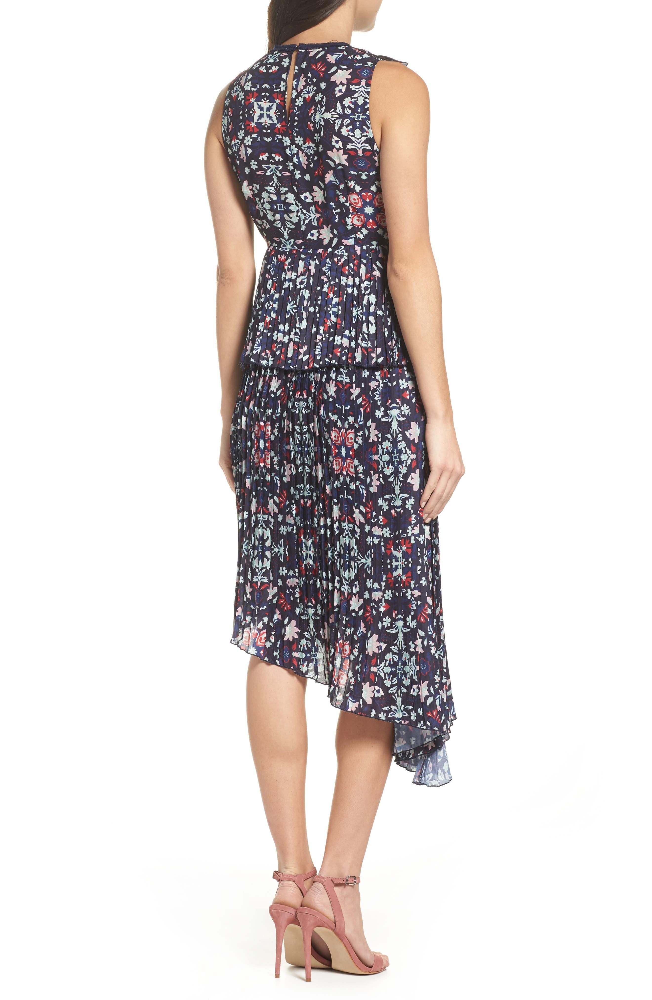 Miranda Pleat Ruffle Dress,                             Alternate thumbnail 2, color,                             400