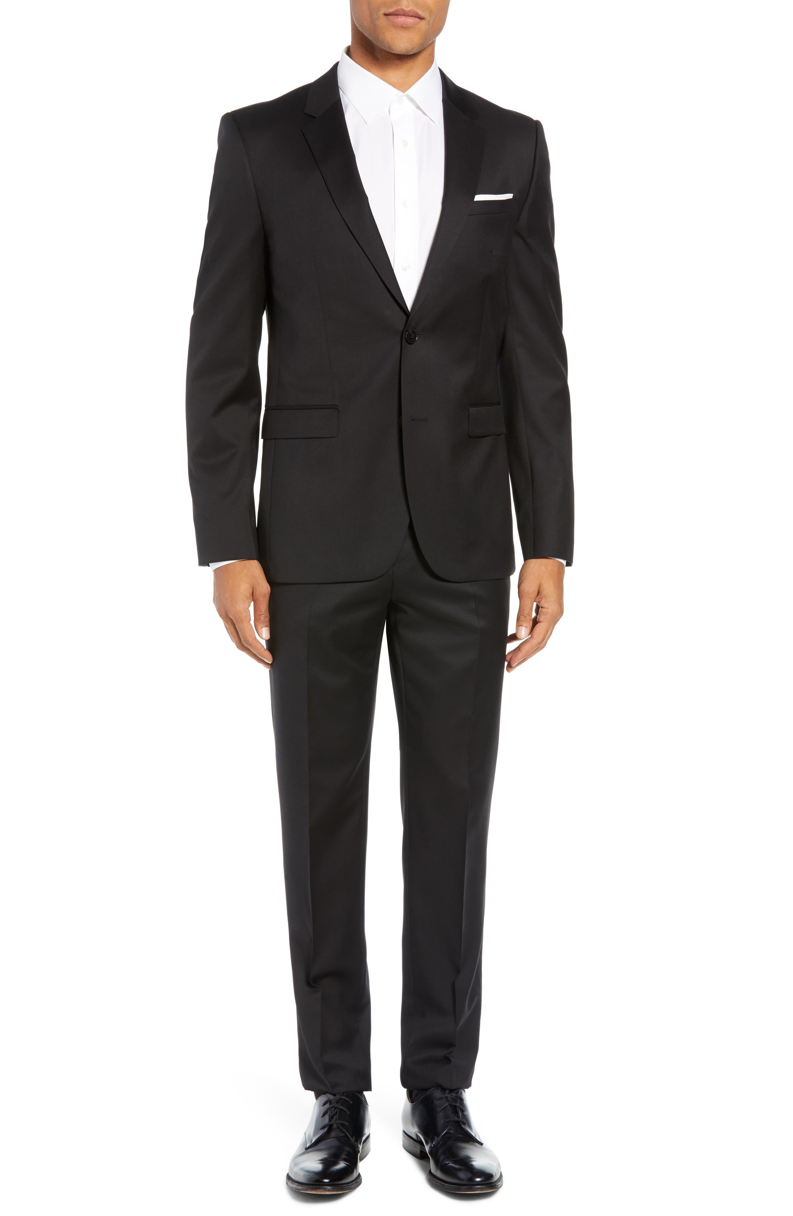 Aldon Extra Slim Fit Blazer,                             Alternate thumbnail 6, color,                             BLACK