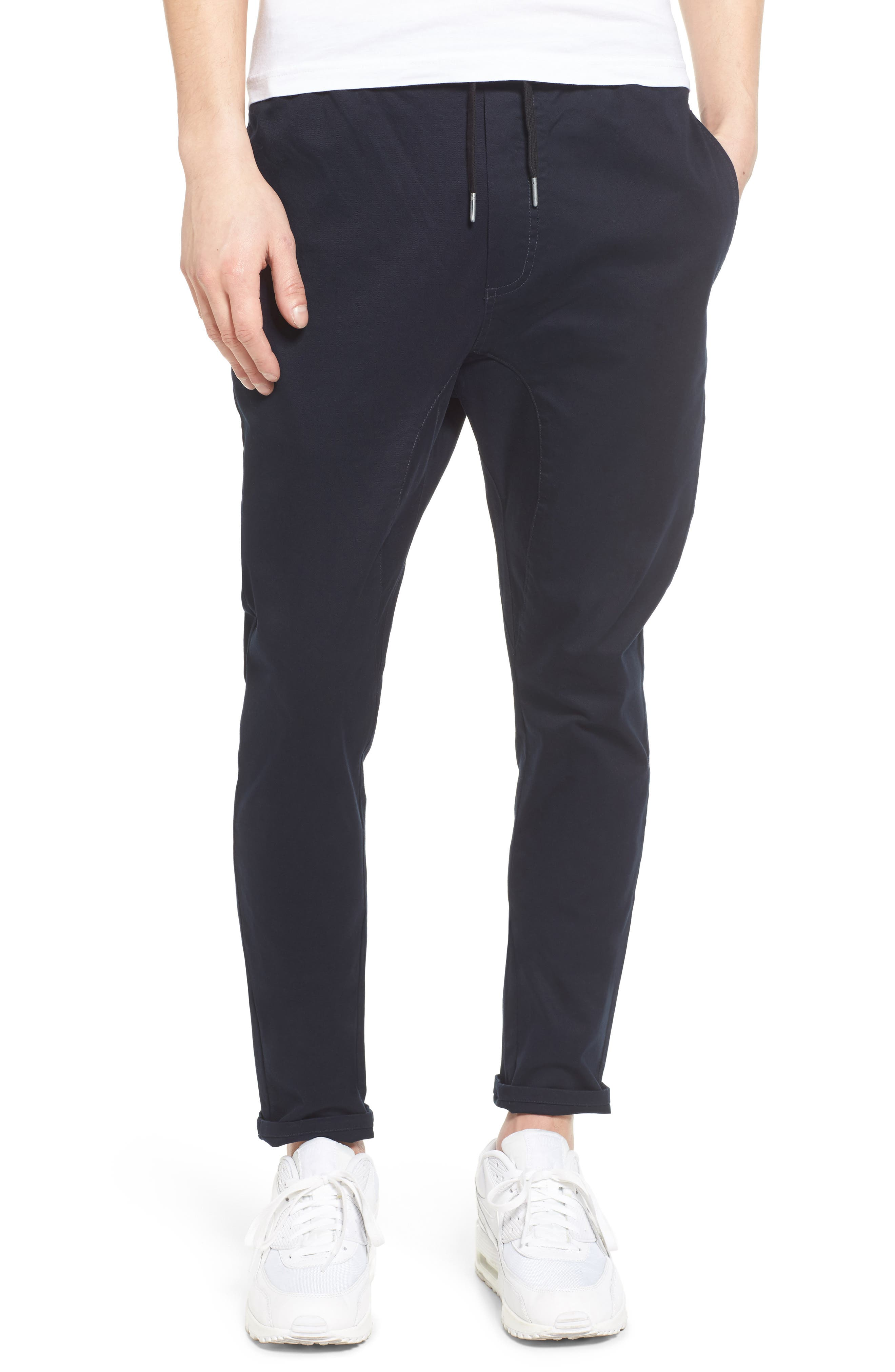 ZANEROBE Salerno Stretch Woven Jogger Pants, Main, color, NAVY