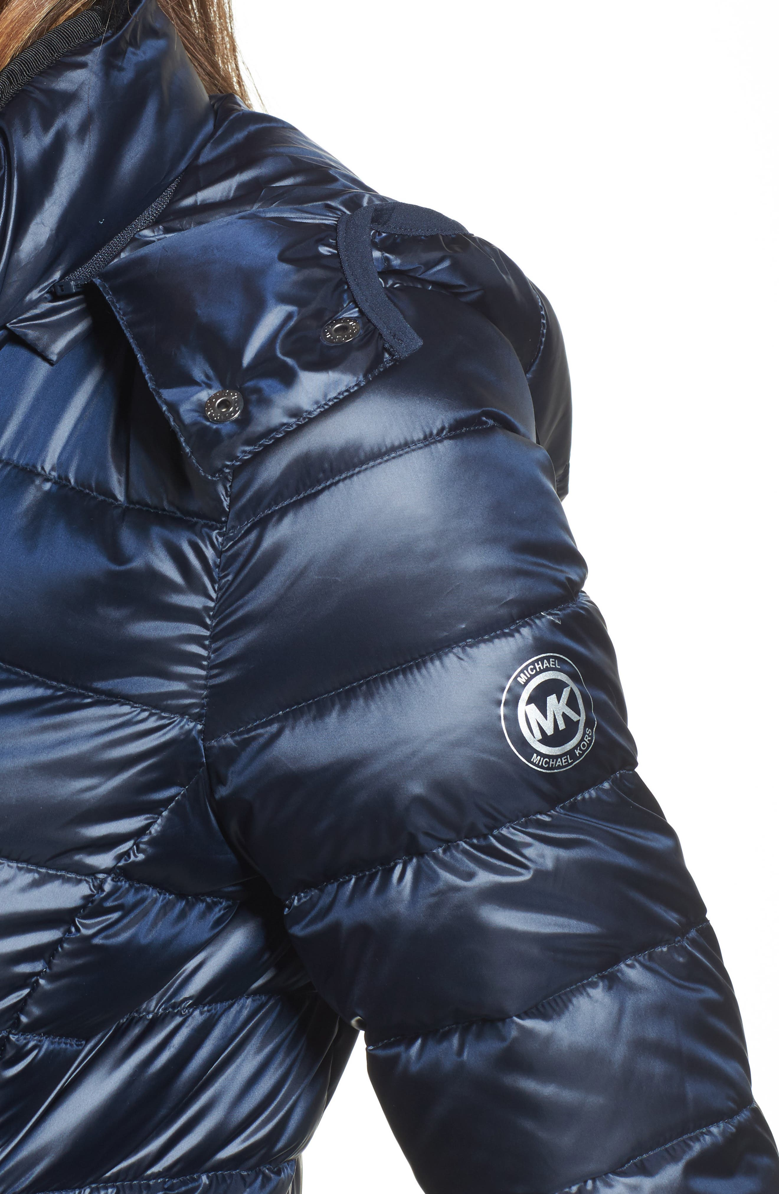Packable Insulated Jacket with Removable Hood,                             Alternate thumbnail 15, color,