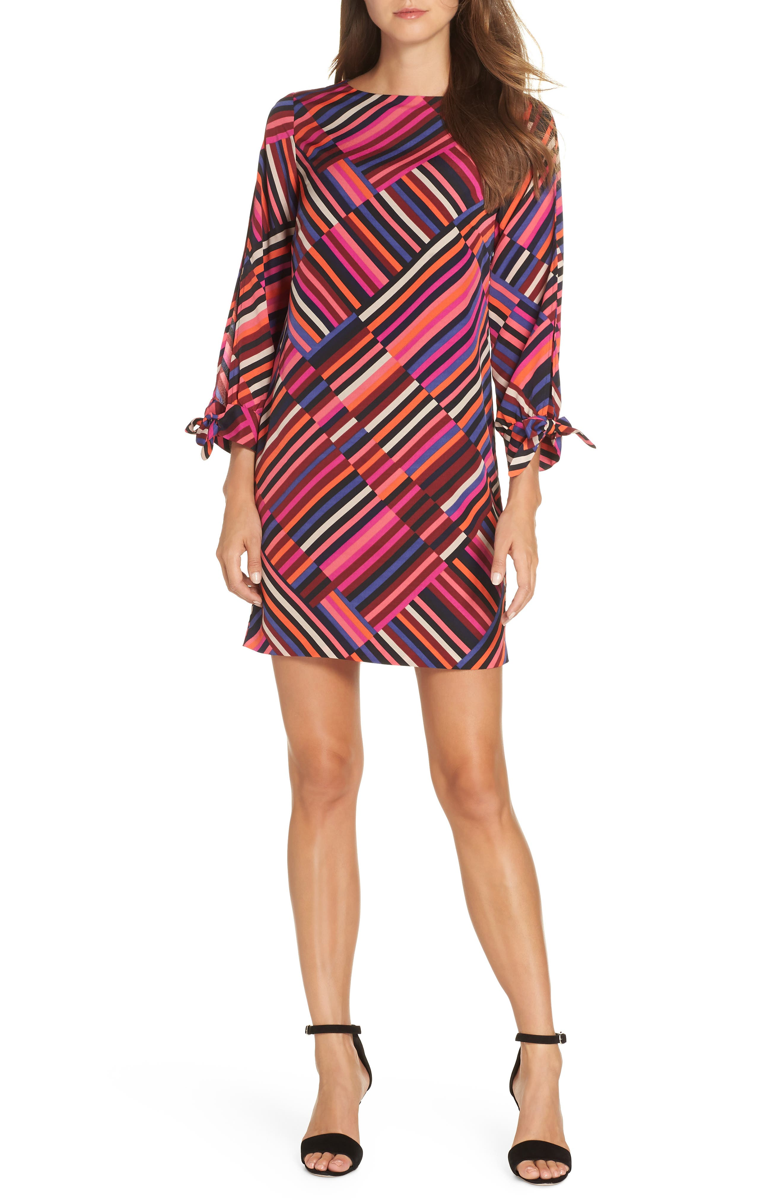Jaxon Chiffon Dress,                             Main thumbnail 1, color,                             MULTI