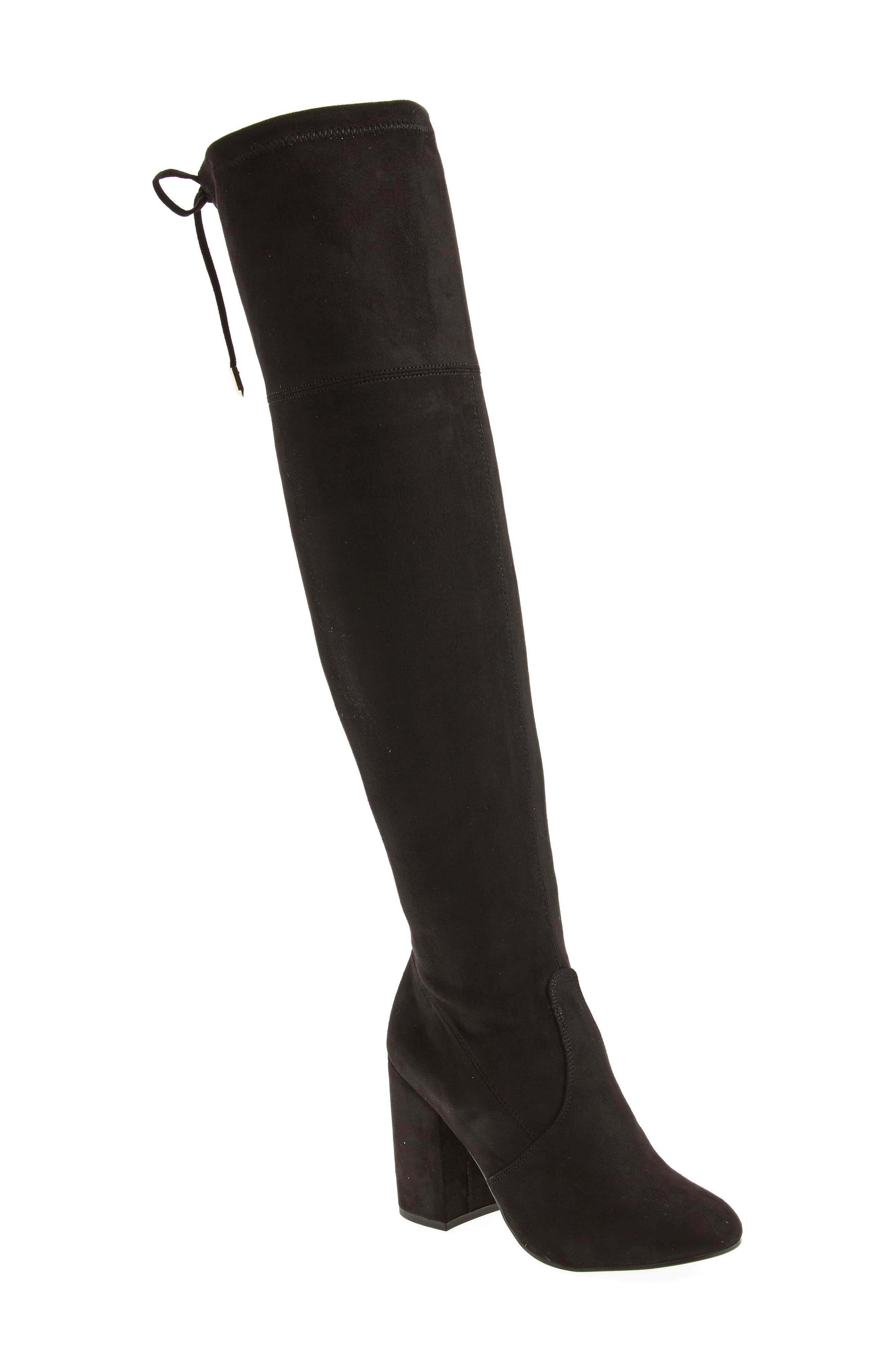 Niela Stretchy Over the Knee Boot,                             Main thumbnail 1, color,                             001