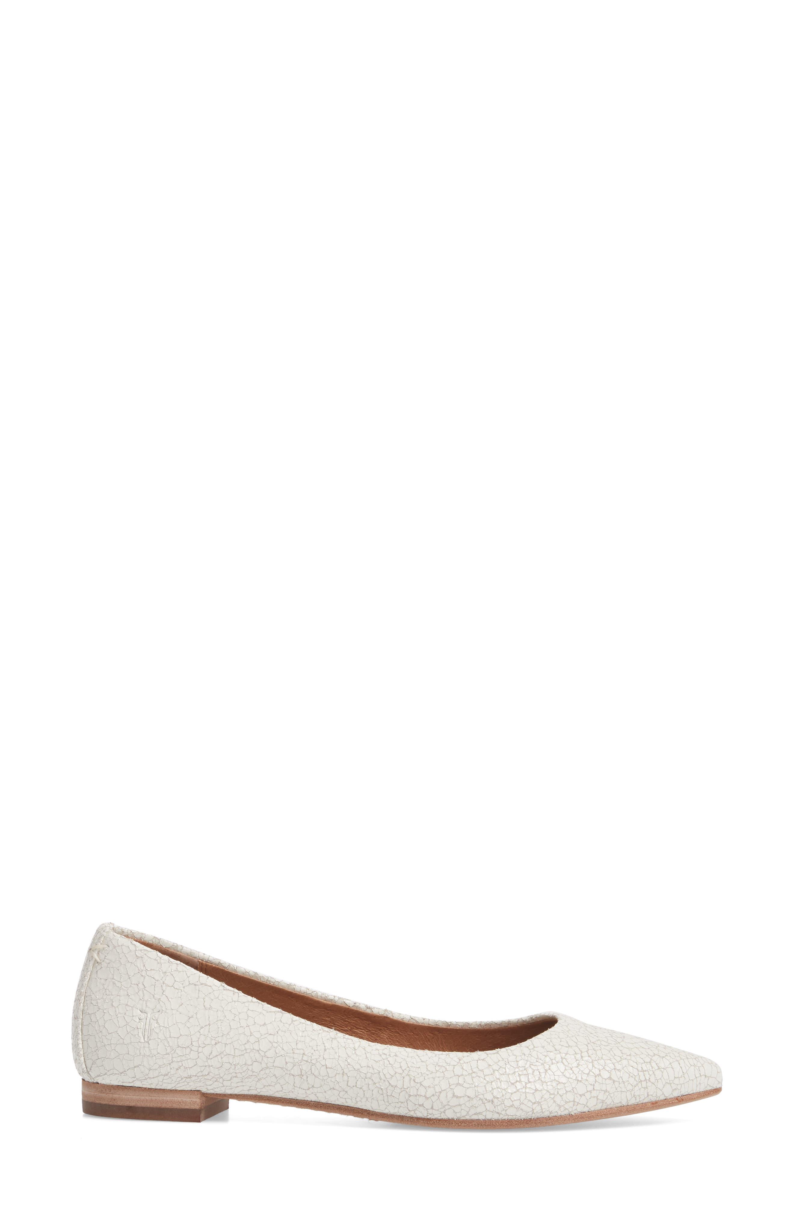 Sienna Pointy Toe Ballet Flat,                             Alternate thumbnail 8, color,