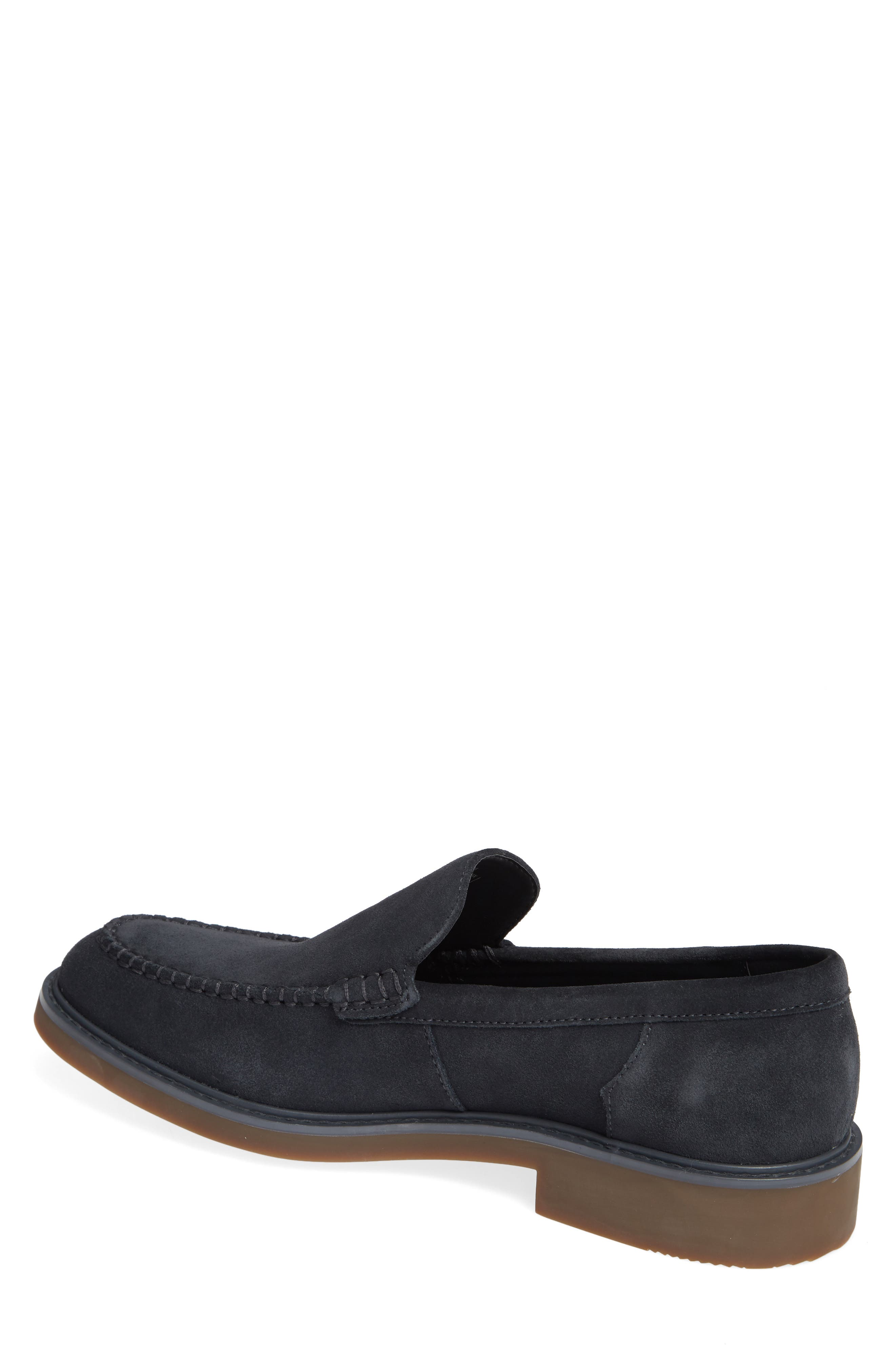 Vance Apron Toe Loafer,                             Alternate thumbnail 2, color,                             STEEL GREYSTONE CALF SUEDE