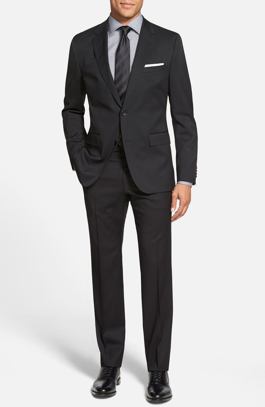 Johnstons/Lenon Classic Fit Wool Suit,                         Main,                         color, 001