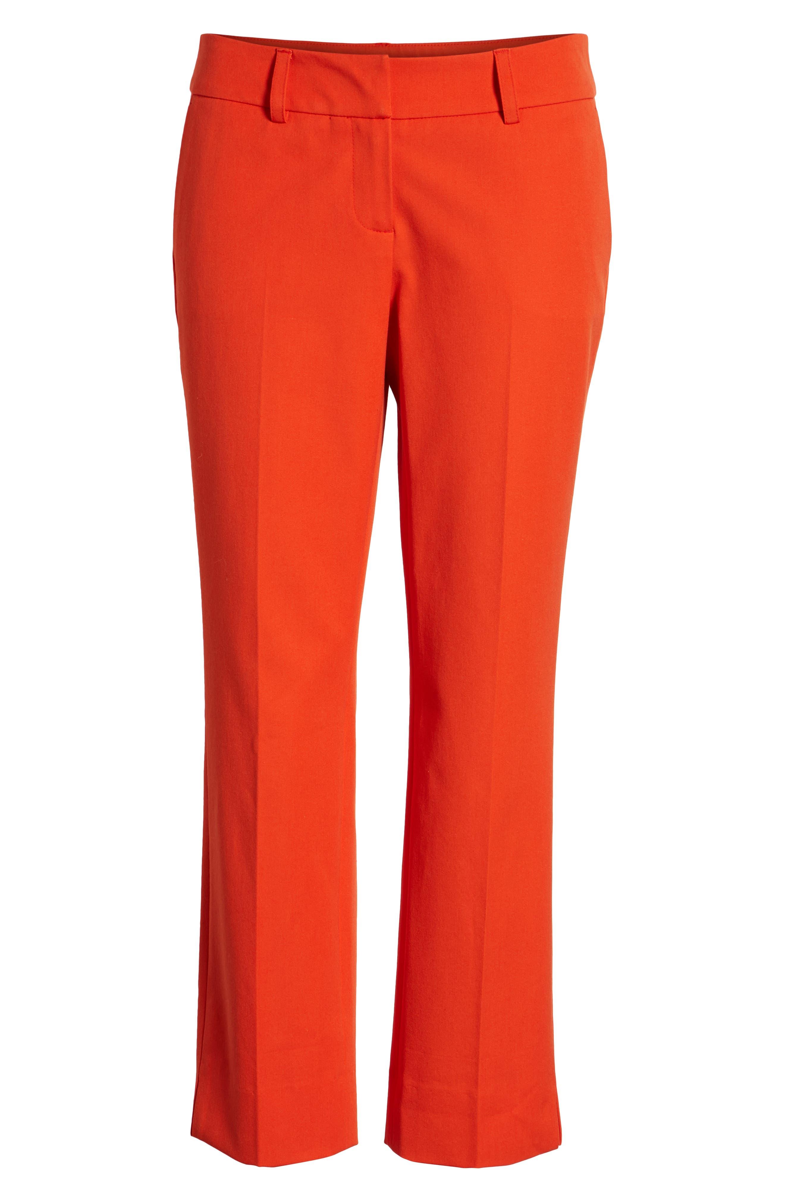 Crop Stretch Cotton Pants,                             Alternate thumbnail 111, color,