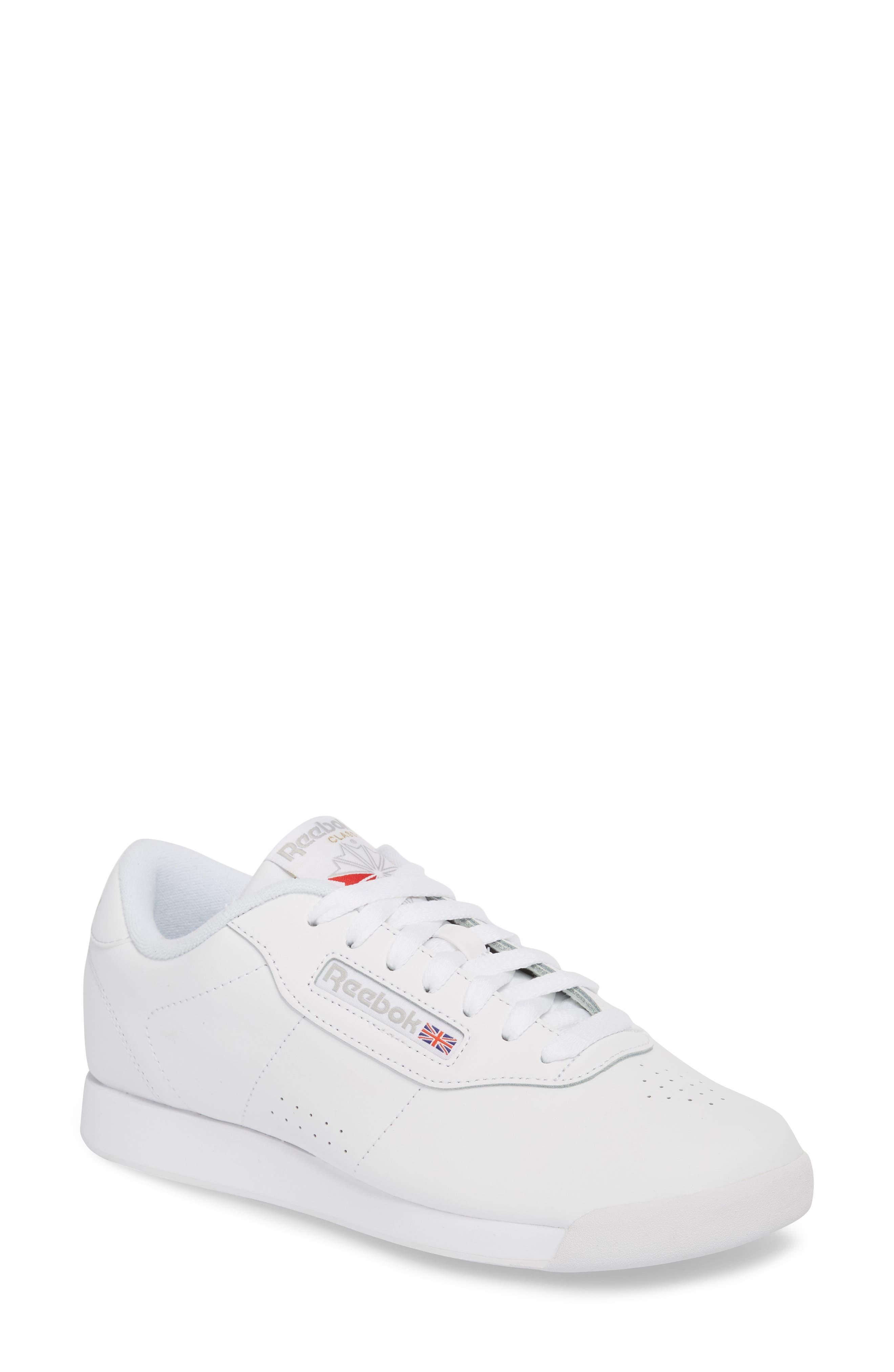 Princess Sneaker, Main, color, WHITE