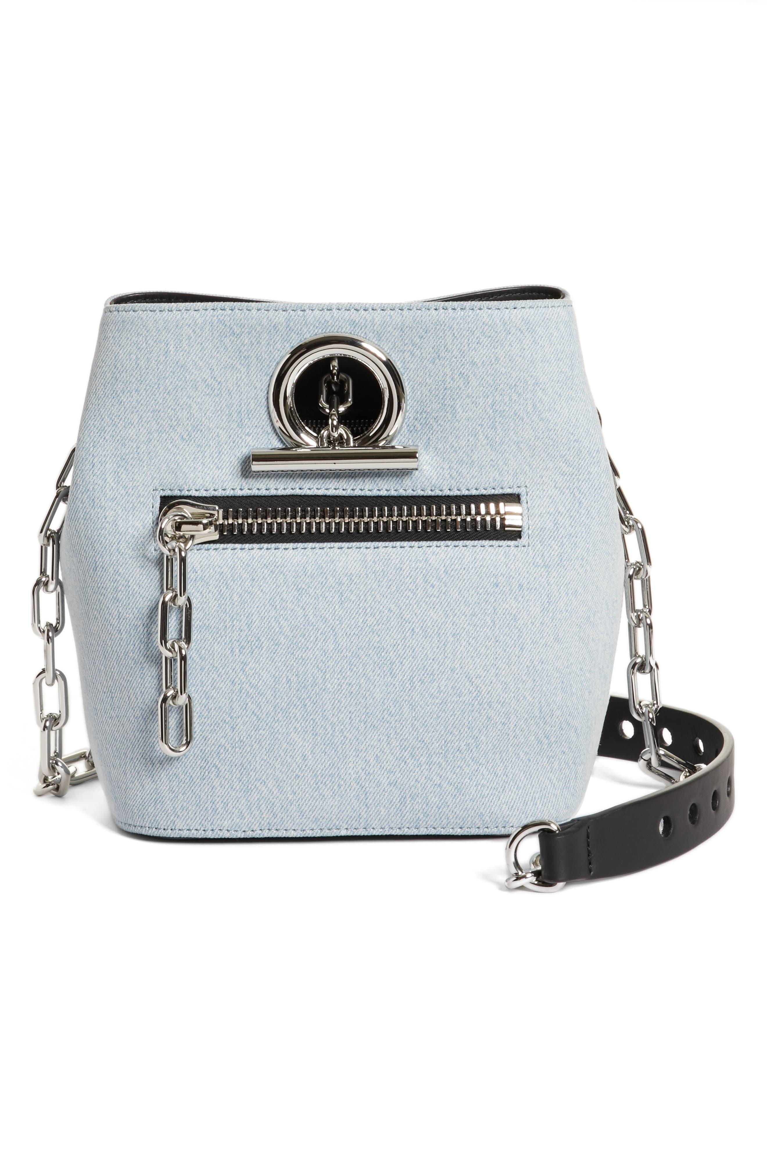 Riot Denim Crossbody Bag,                         Main,                         color, 455
