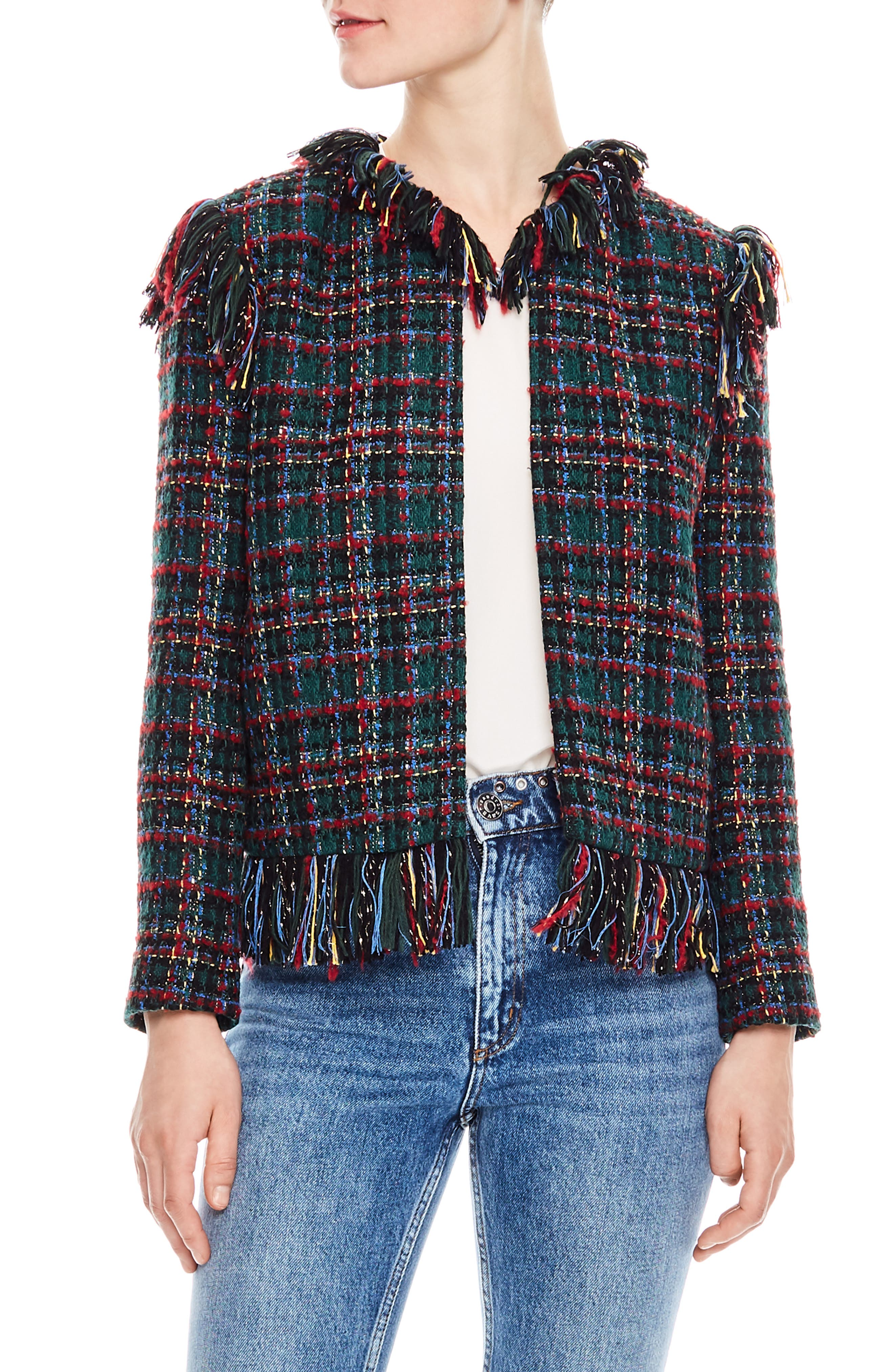 Pumba Plaid Tweed Jacket,                             Main thumbnail 1, color,                             MULTI-COLOR
