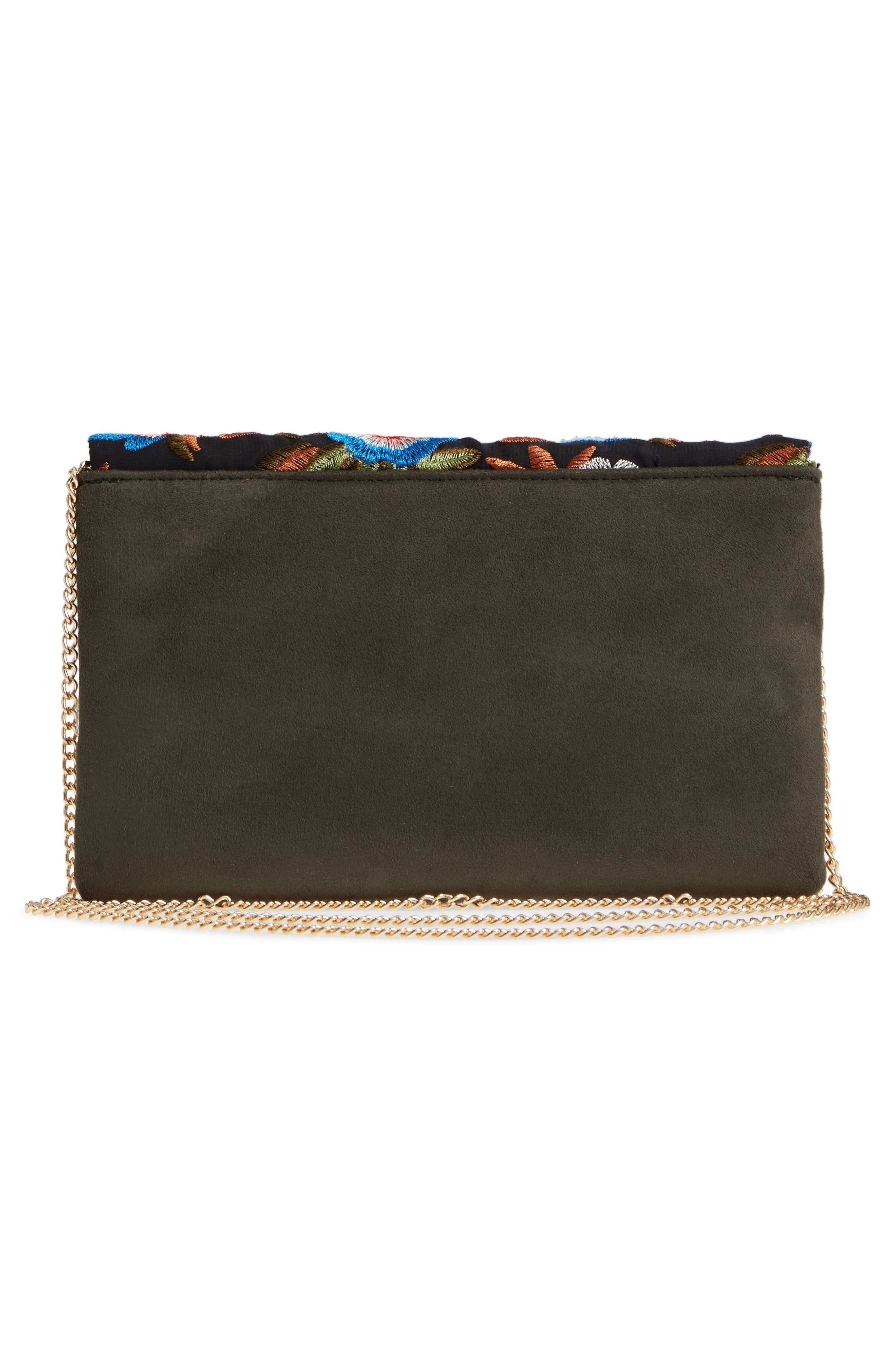 Embroidered Envelope Clutch,                             Alternate thumbnail 3, color,                             461