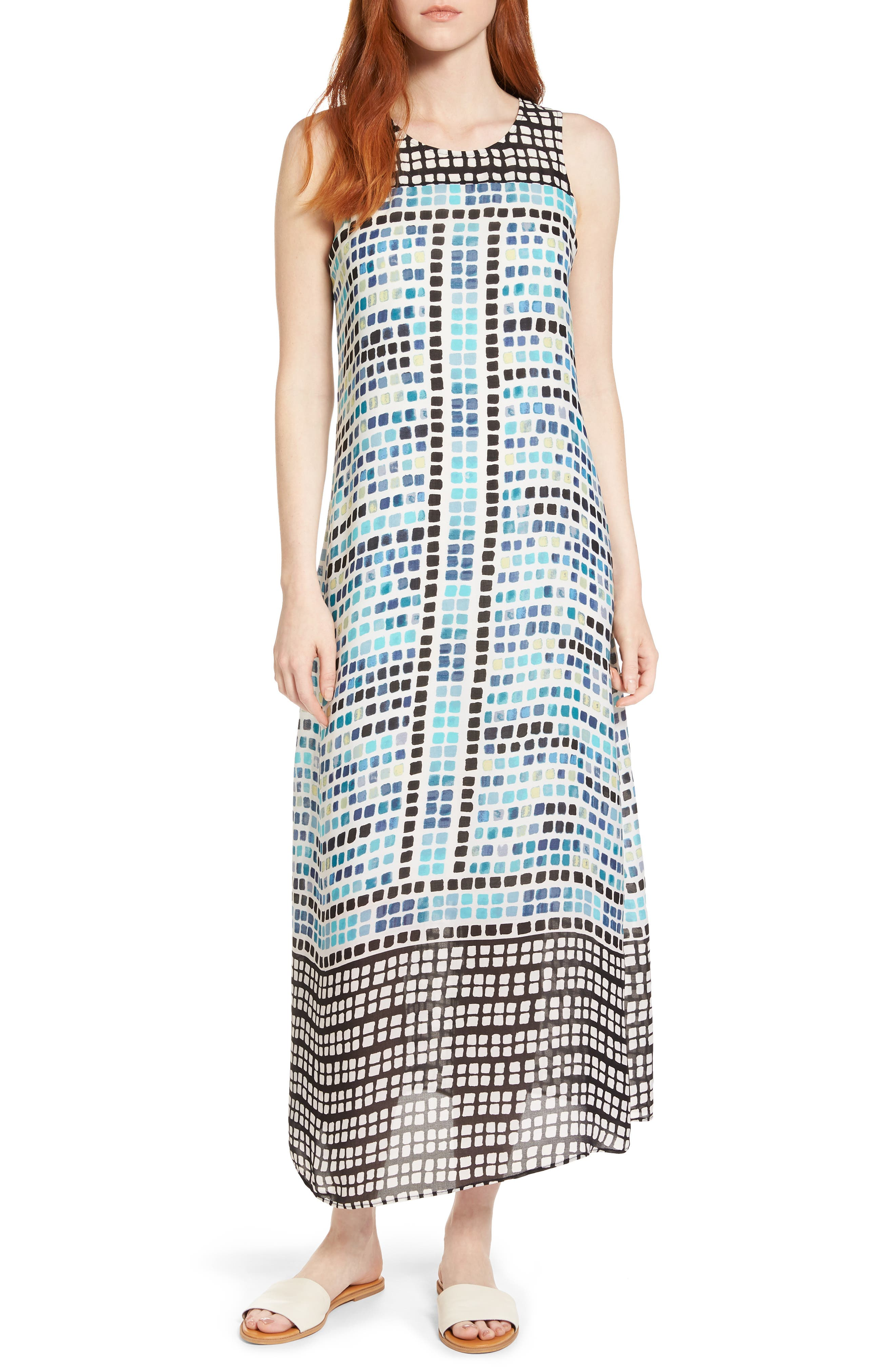 Color Wave Maxi Dress,                             Main thumbnail 1, color,