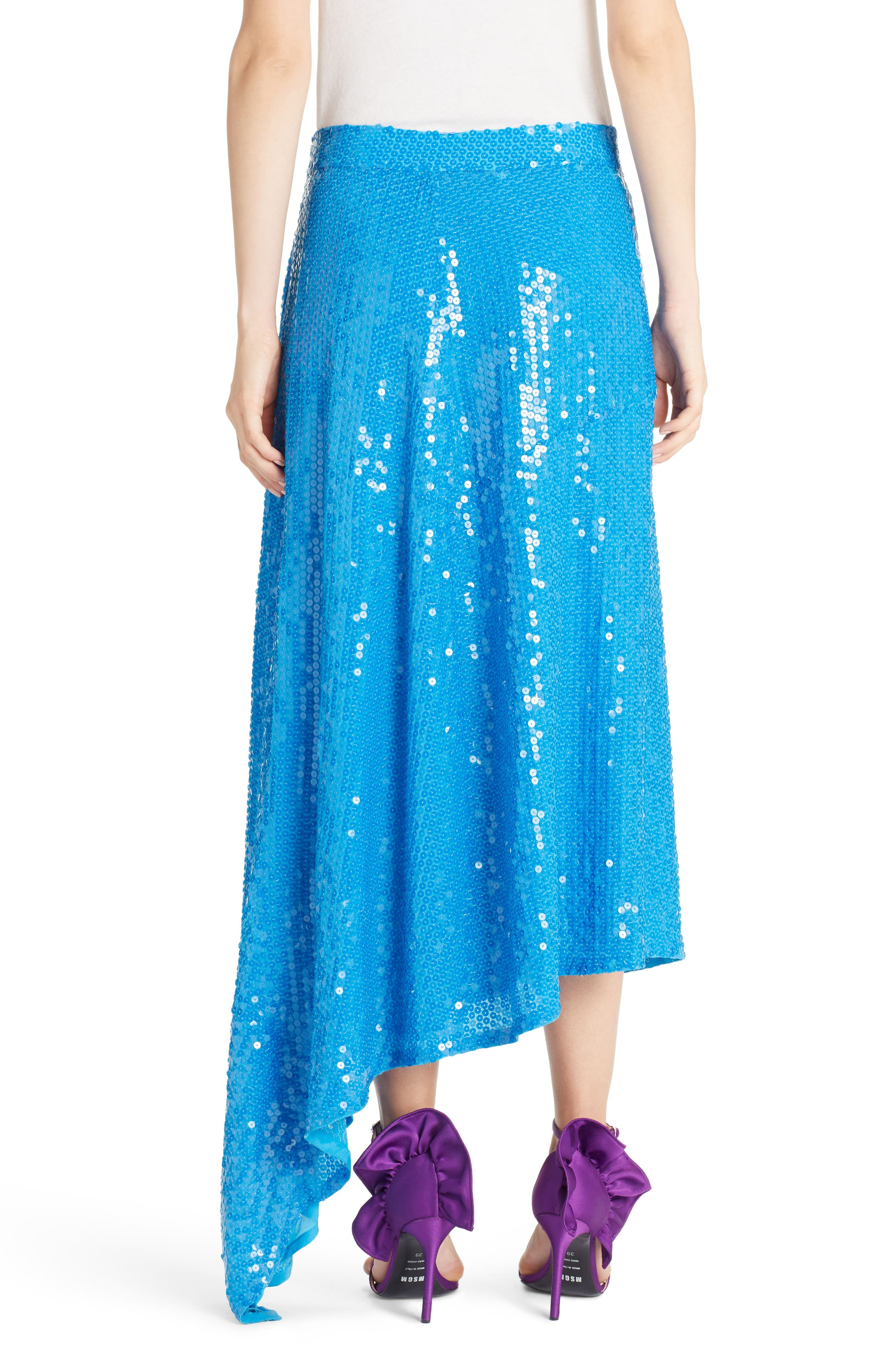 Asymmetrical Sequin Skirt,                             Alternate thumbnail 2, color,                             488