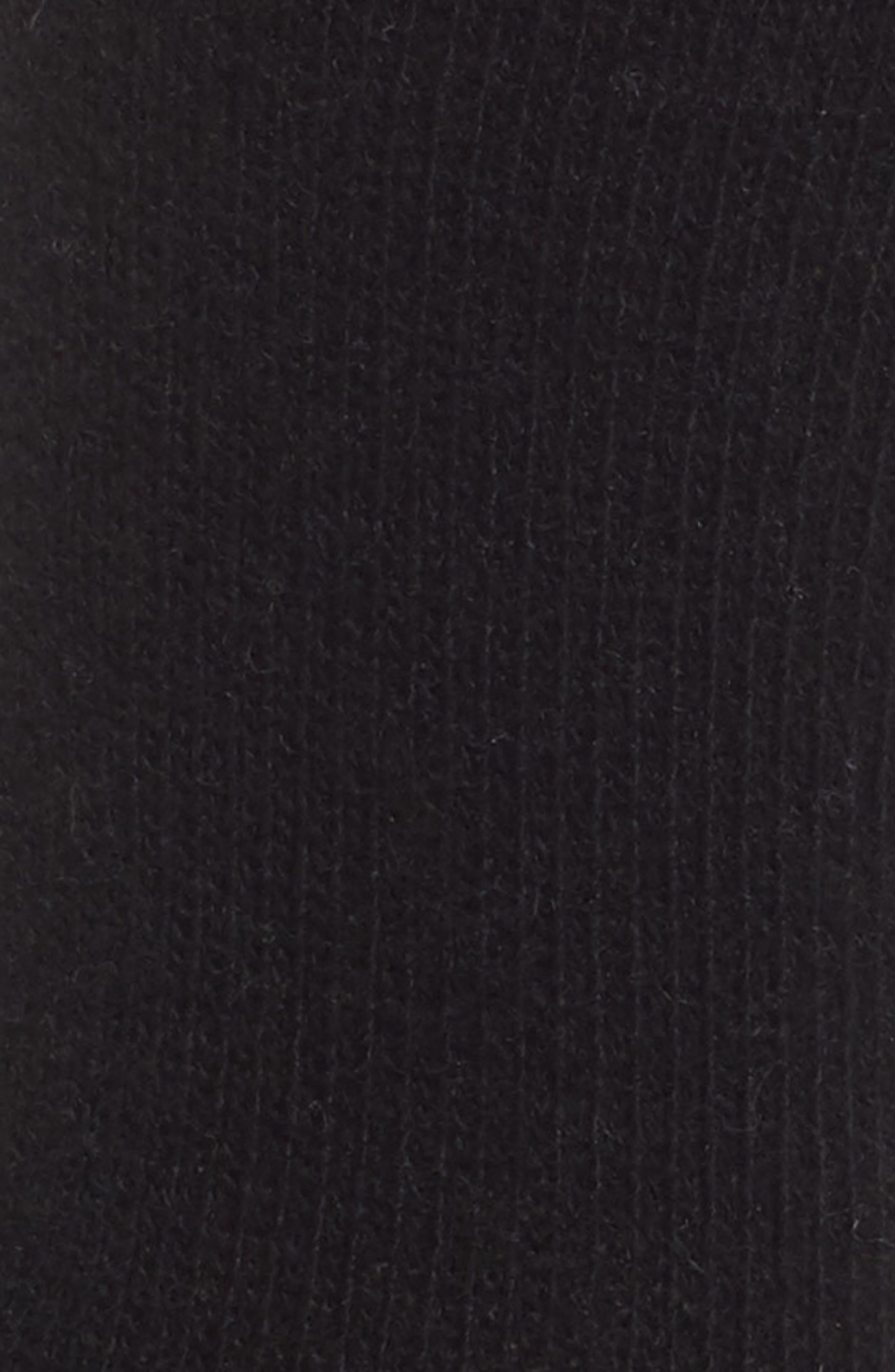 Cashmere Blend Crew Socks,                             Alternate thumbnail 2, color,                             BLACK