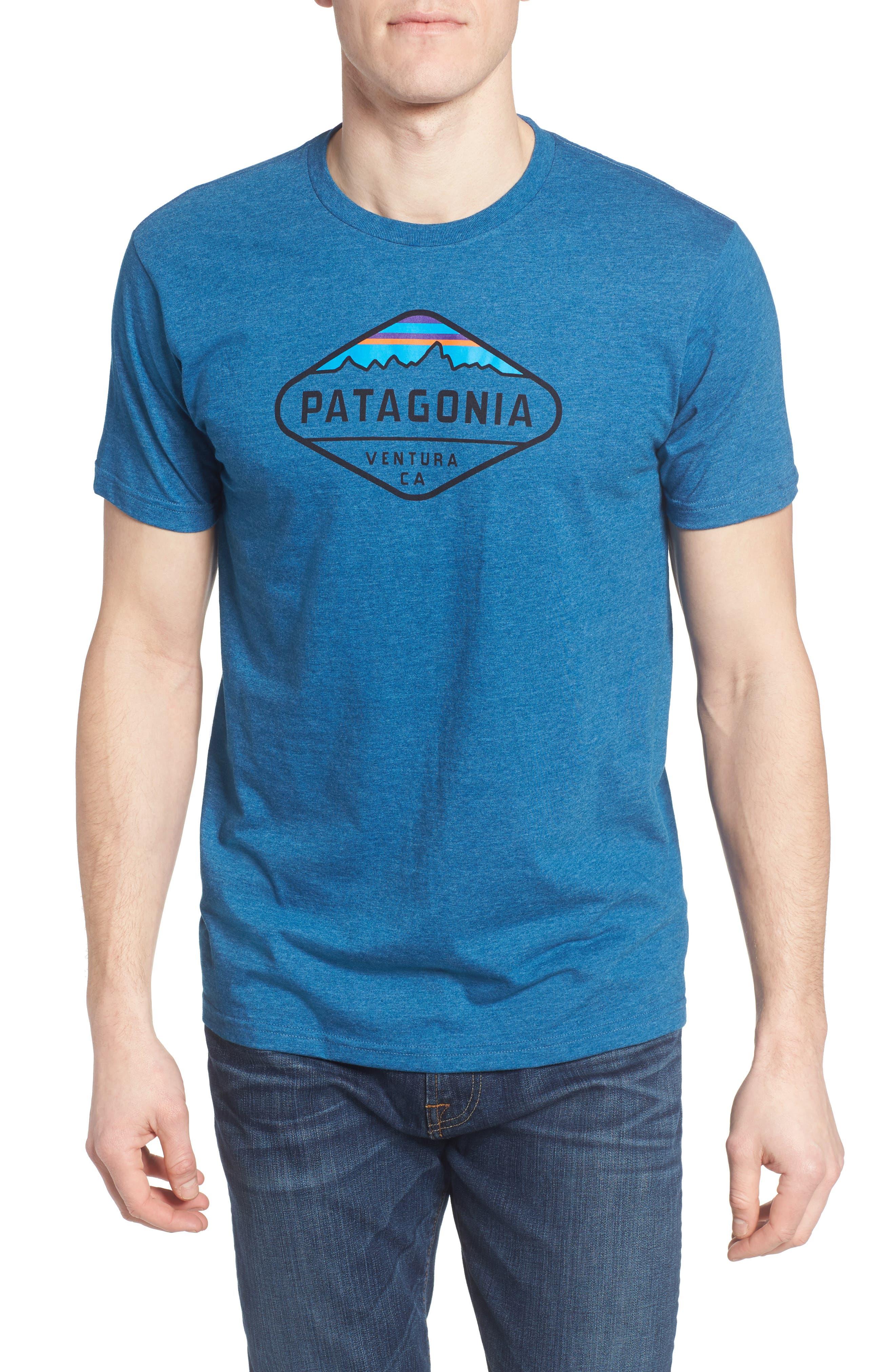 'Fitz Roy Crest' Slim Fit Organic Cotton Blend T-Shirt,                             Main thumbnail 5, color,