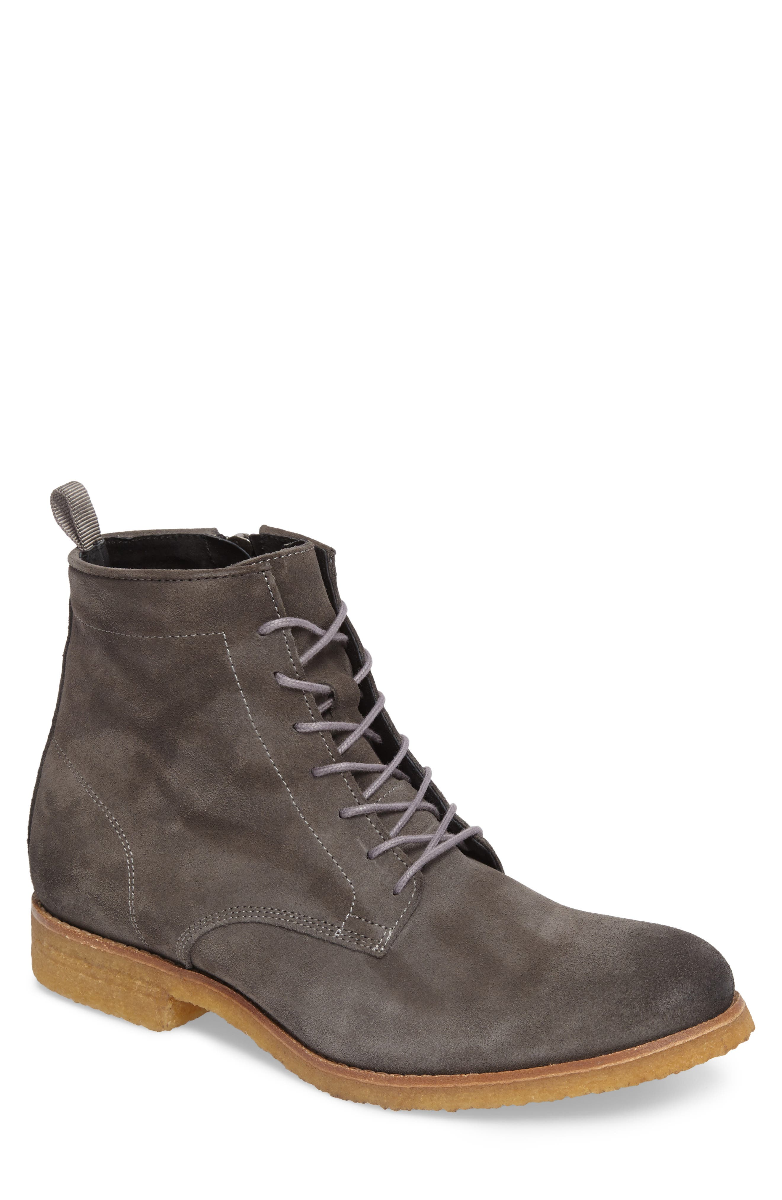 SUPPLY LAB Jonah Plain Toe Boot in Grey Suede
