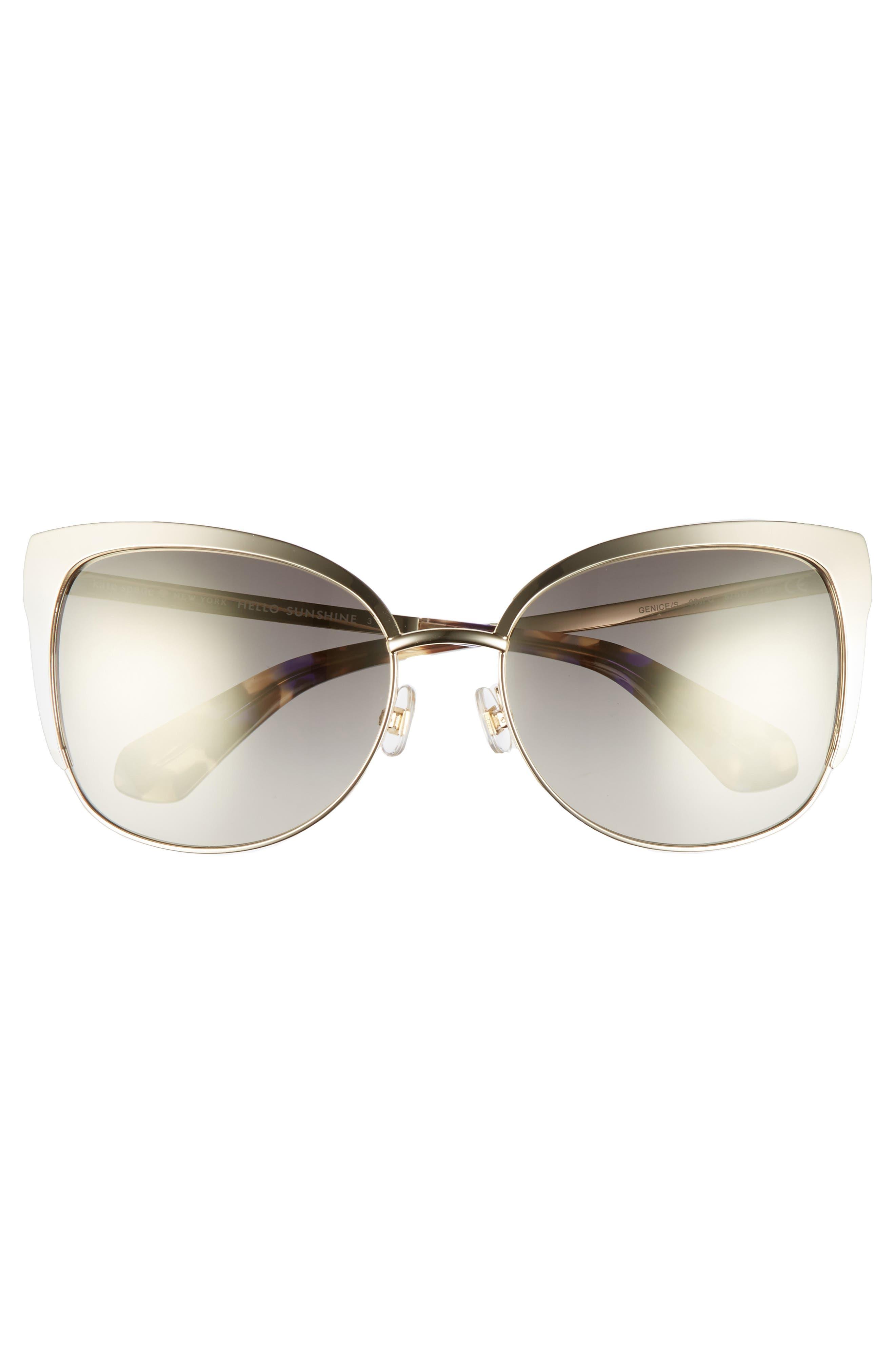 'genice' 57mm cat-eye sunglasses,                             Alternate thumbnail 3, color,                             GOLD HAVANA