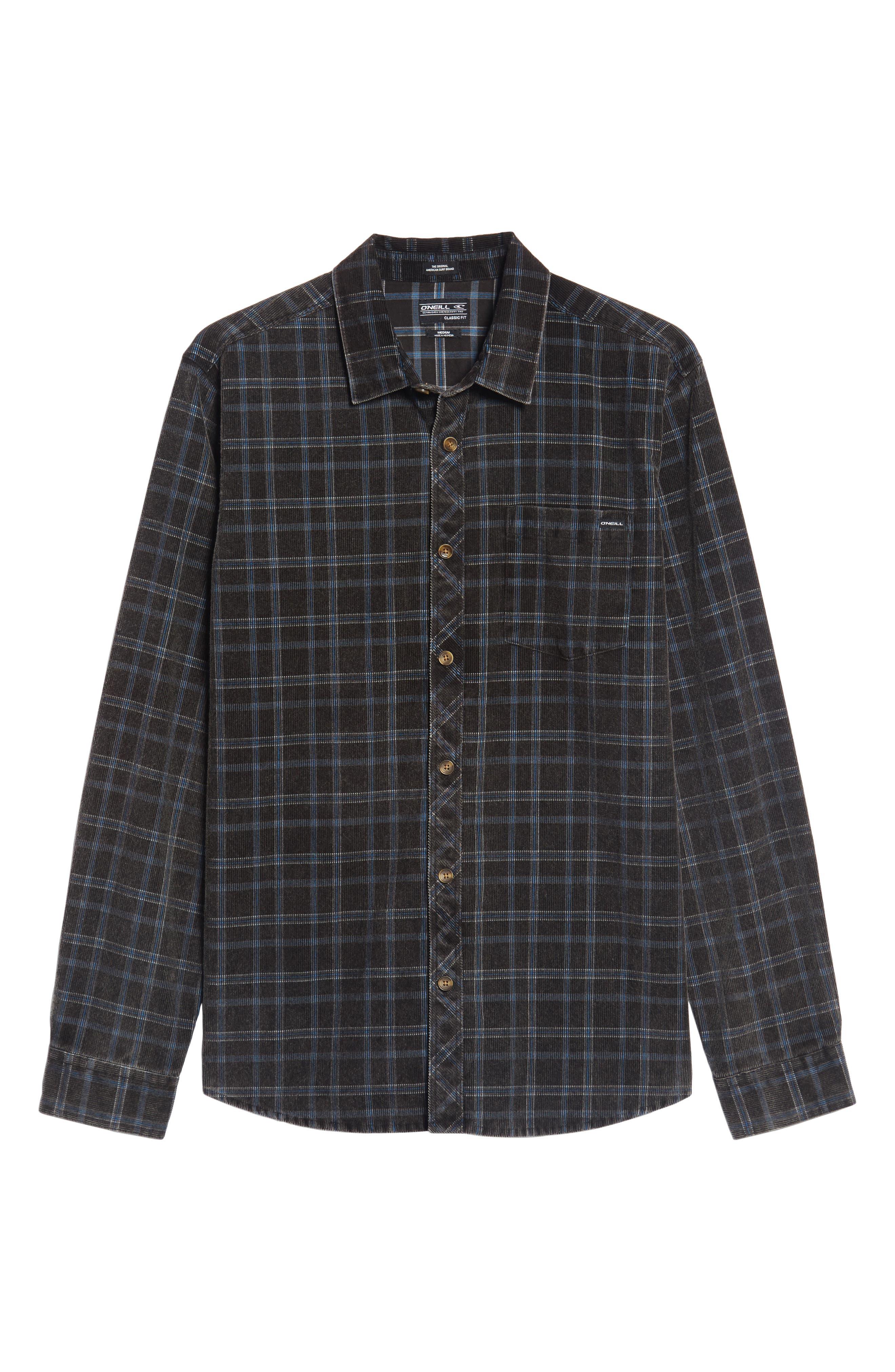 Bradley Corduroy Shirt,                             Alternate thumbnail 6, color,                             001