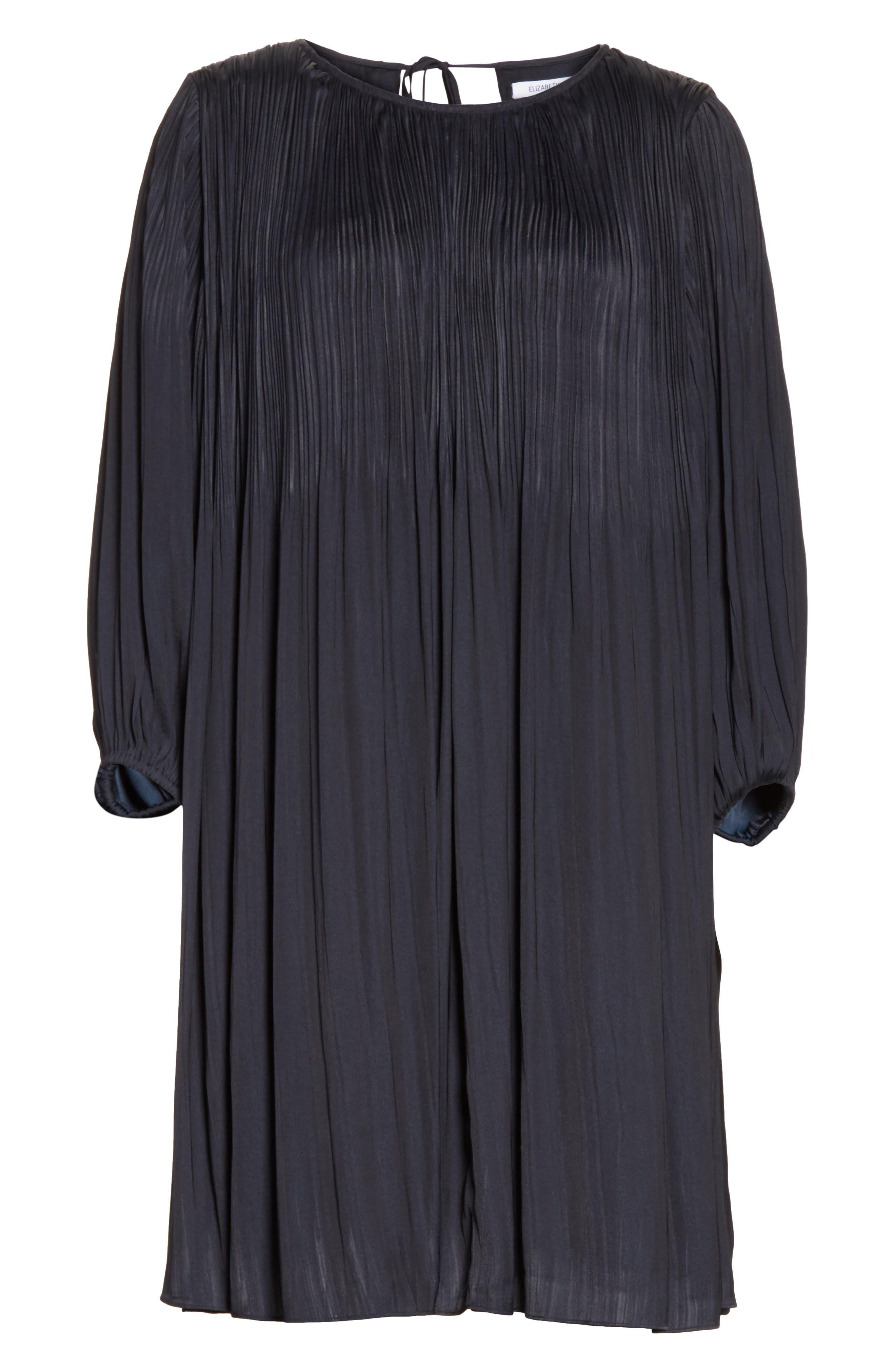 Florrie Pleated Shift Dress,                             Alternate thumbnail 6, color,                             410