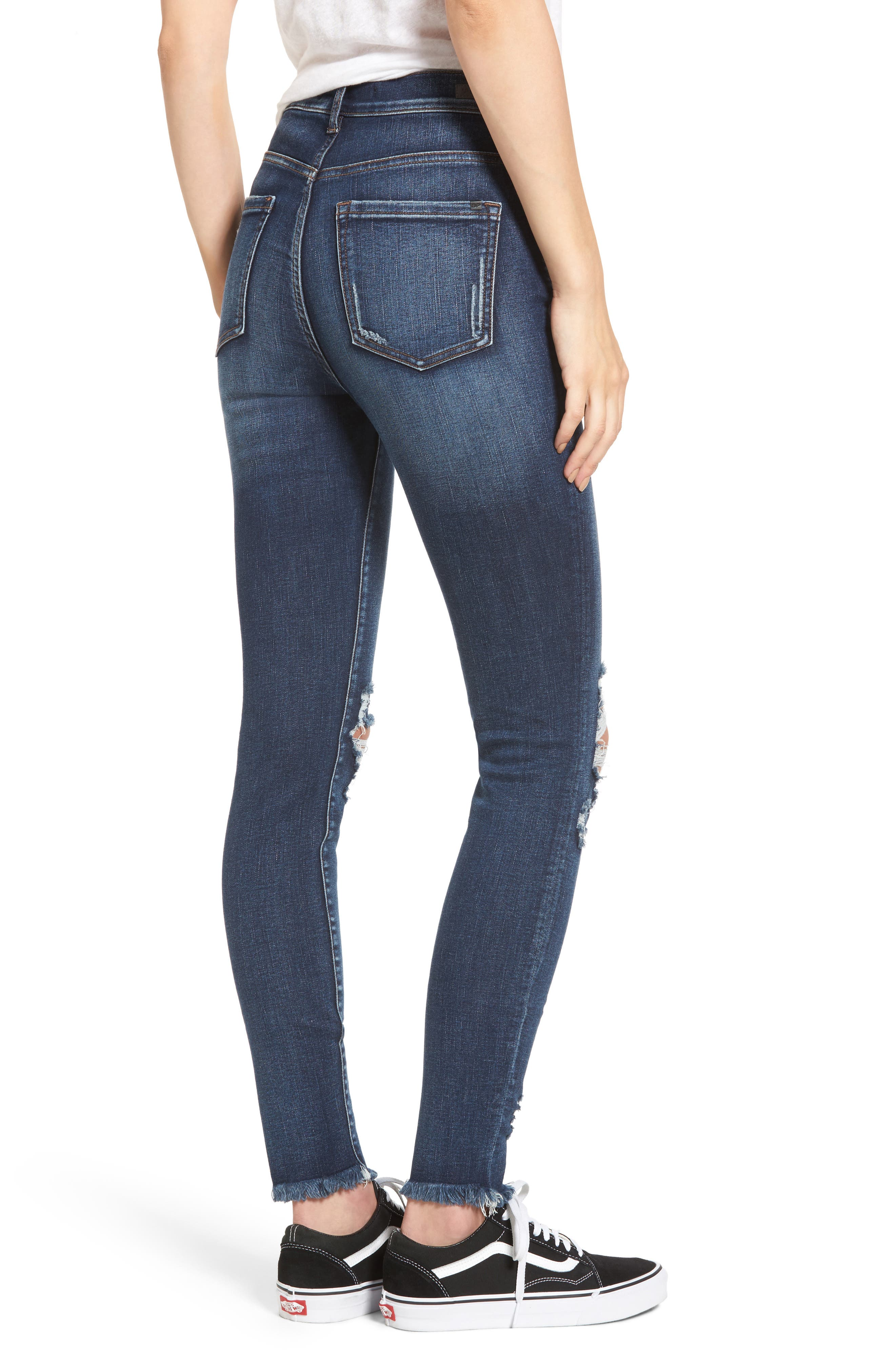 Distressed High Waist Skinny Jeans,                             Alternate thumbnail 2, color,                             409