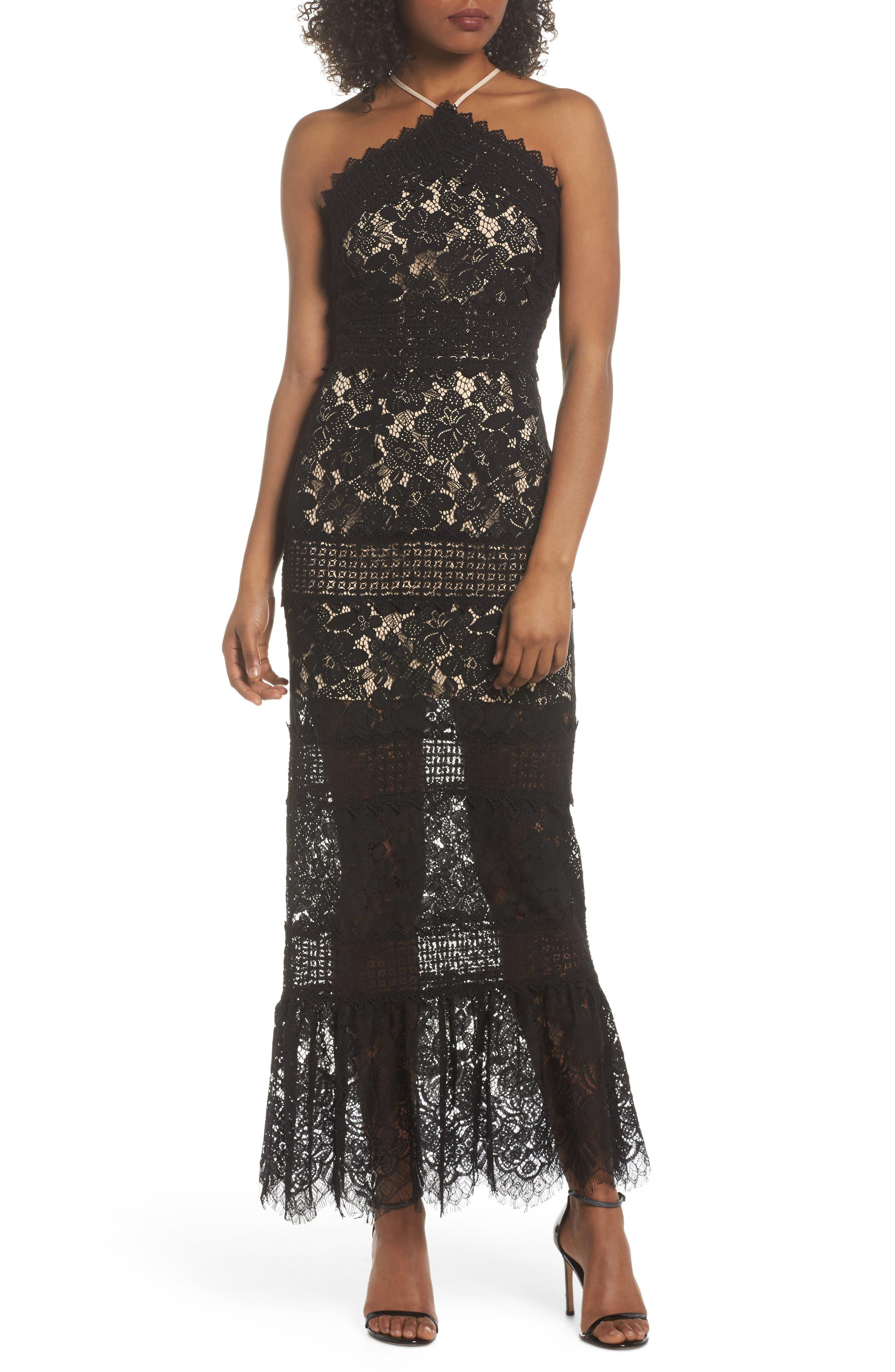 Tabitha Lace Maxi Dress,                             Main thumbnail 1, color,                             001