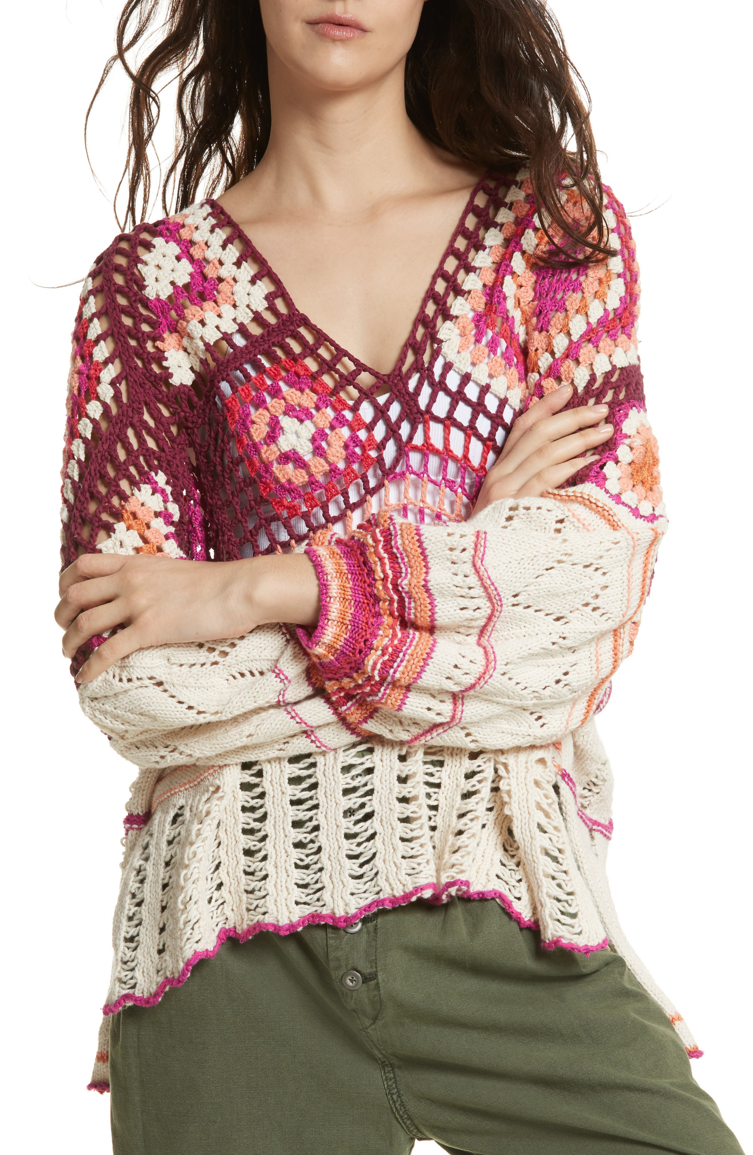 Call Me Crochet Sweater,                             Main thumbnail 1, color,